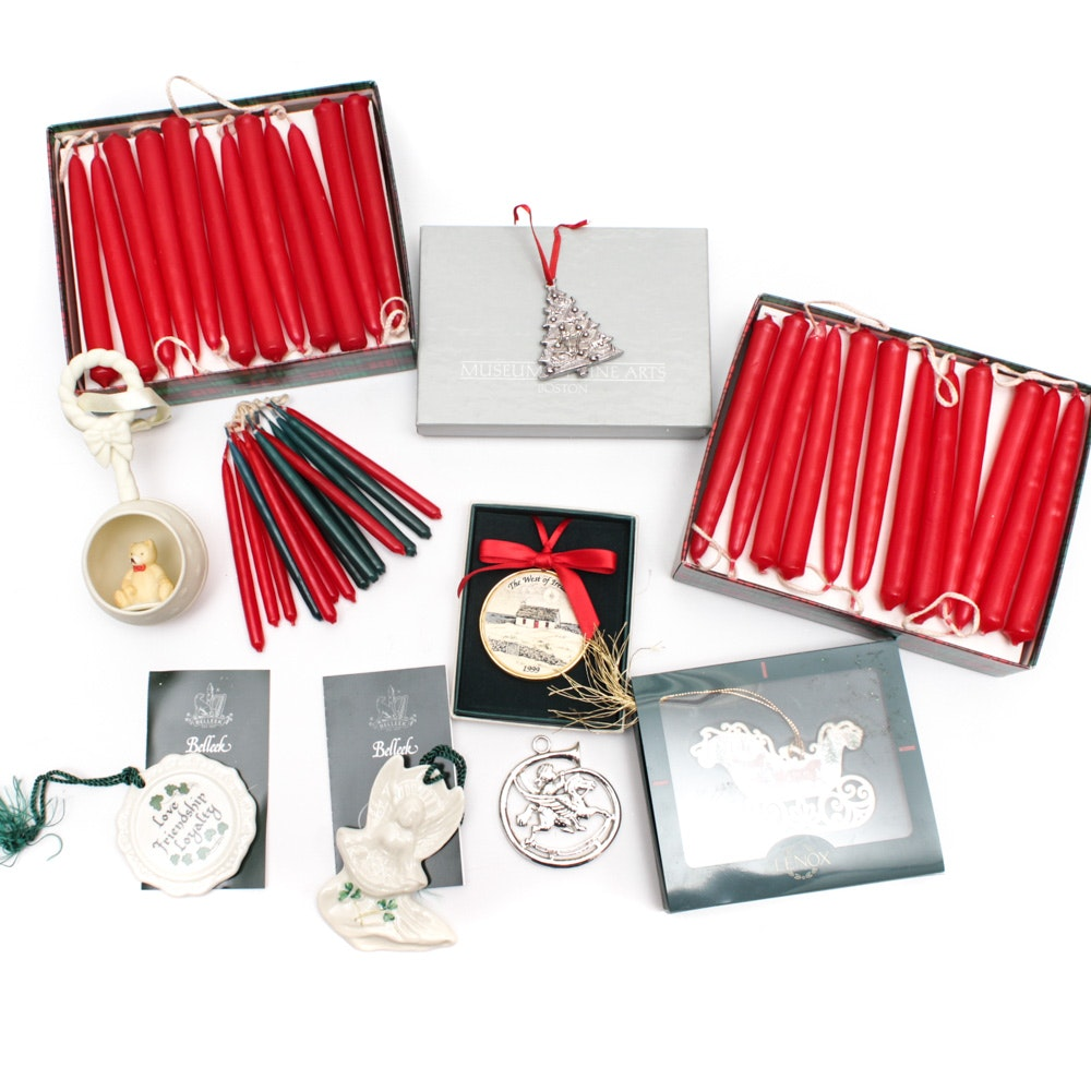 Christmas Ornaments featuring Belleek and Metropolitan Museum of Art