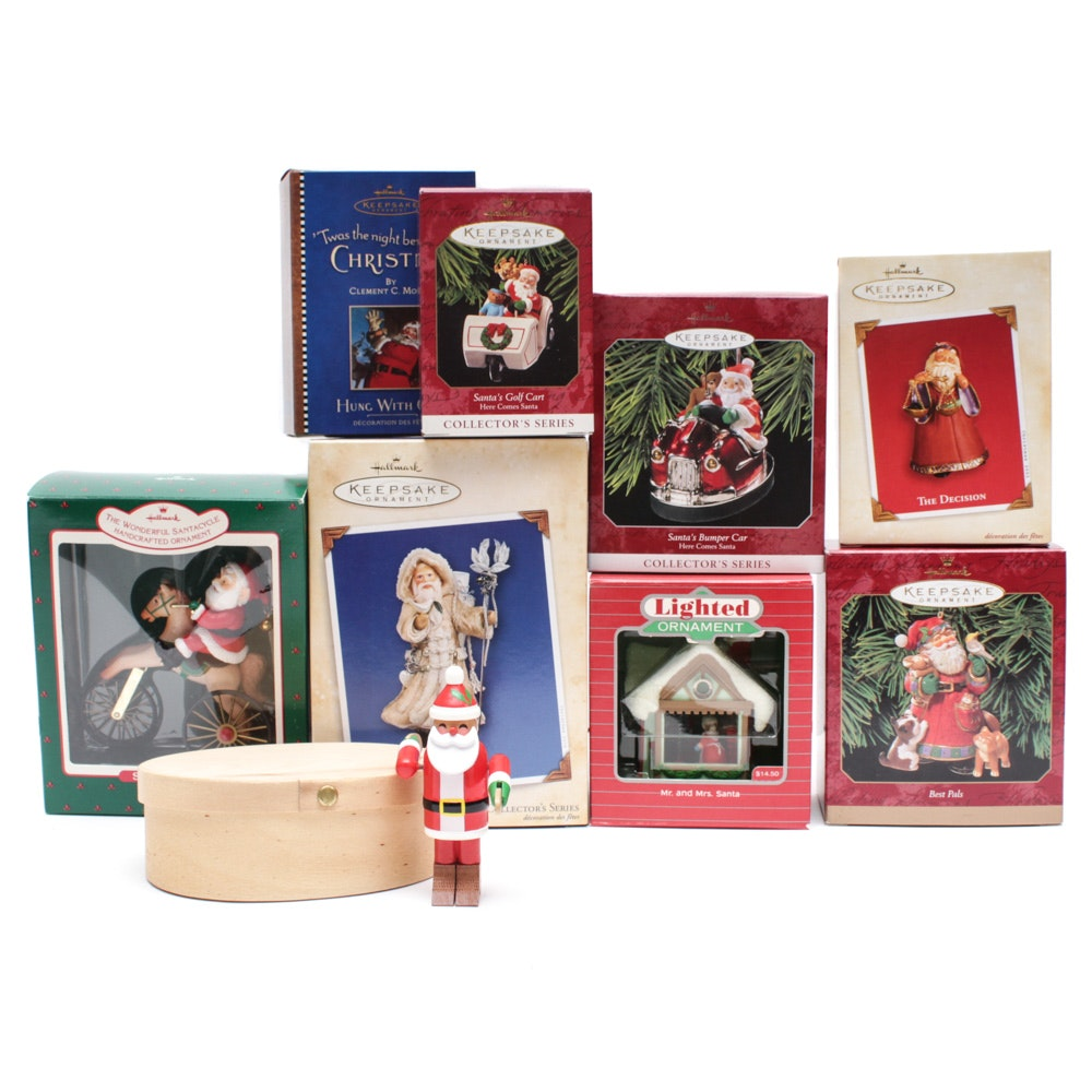 """Hallmark """"Keepsake"""" Ornament with """"Father Christmas"""" and """"Country Collection"""""""