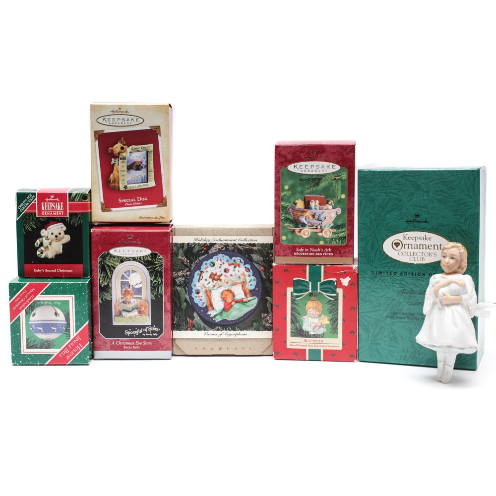 """Hallmark Ornaments with Limited Edition """"Angel with Lambs"""""""