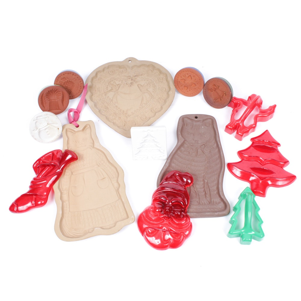 Vintage Cooke Molds Featuring Brown Bag Cookie Art