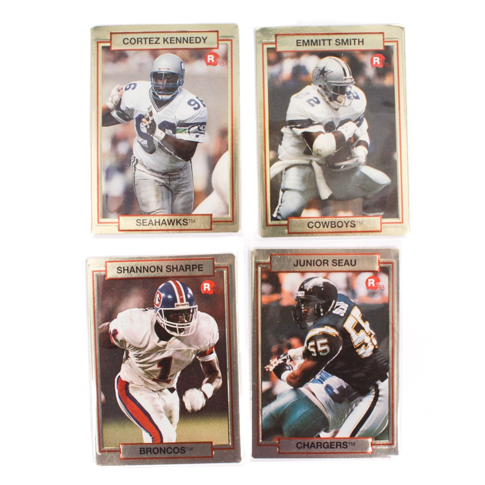 1990 Action Packed NFL Football Rookie Cards Featuring Emmitt Smith