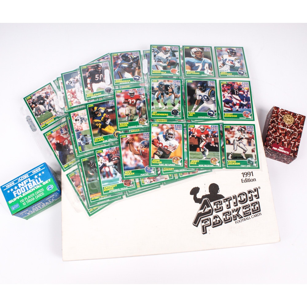 NFL Football Cards Featuring Sealed 1991 Action Packed Collector's Set