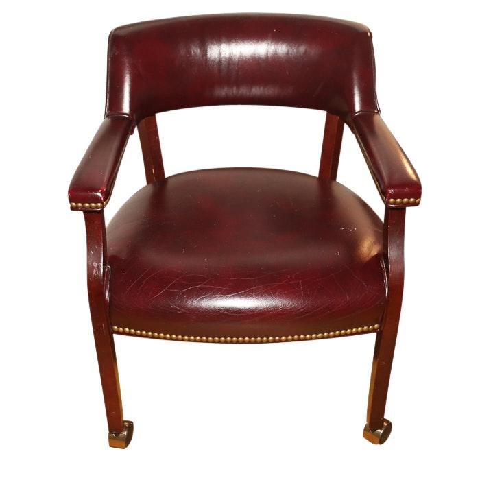 Mid-Century Vinyl Upholstered Office Chair