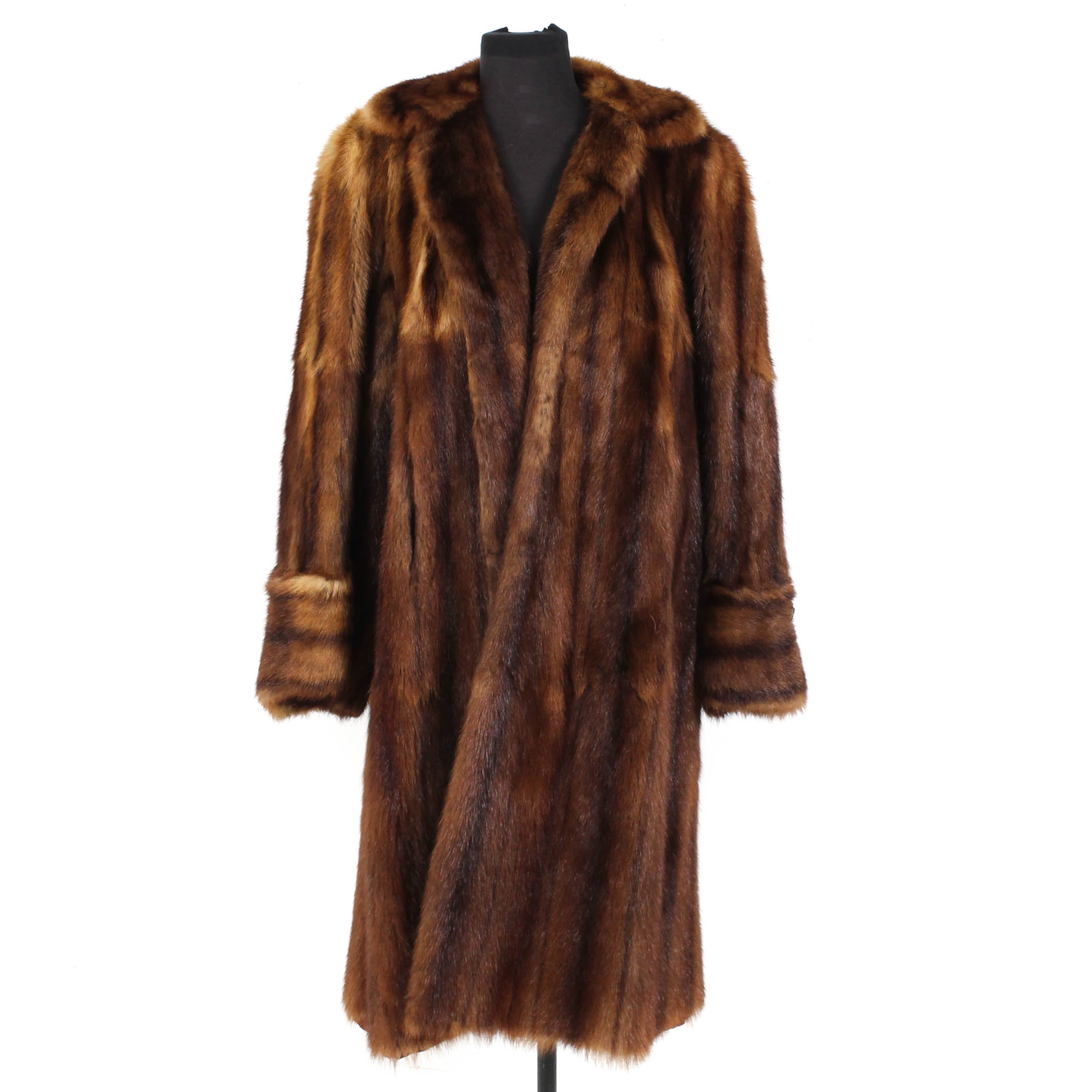 Globe Furs Inc. Dyed Marmot Fur Coat