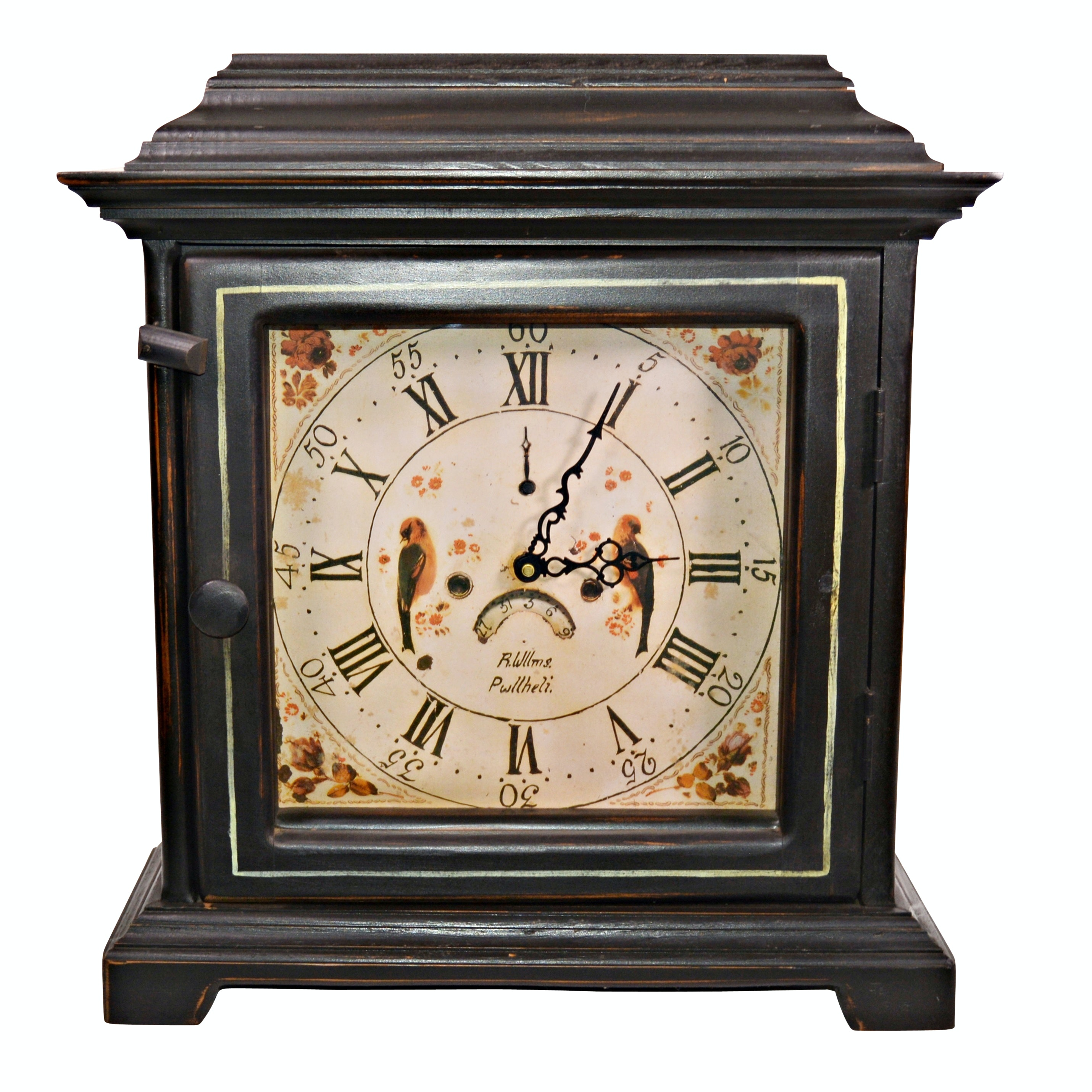 Reproduction Clock Face R.Willms. Pwllheli Quartz Mantel Clock