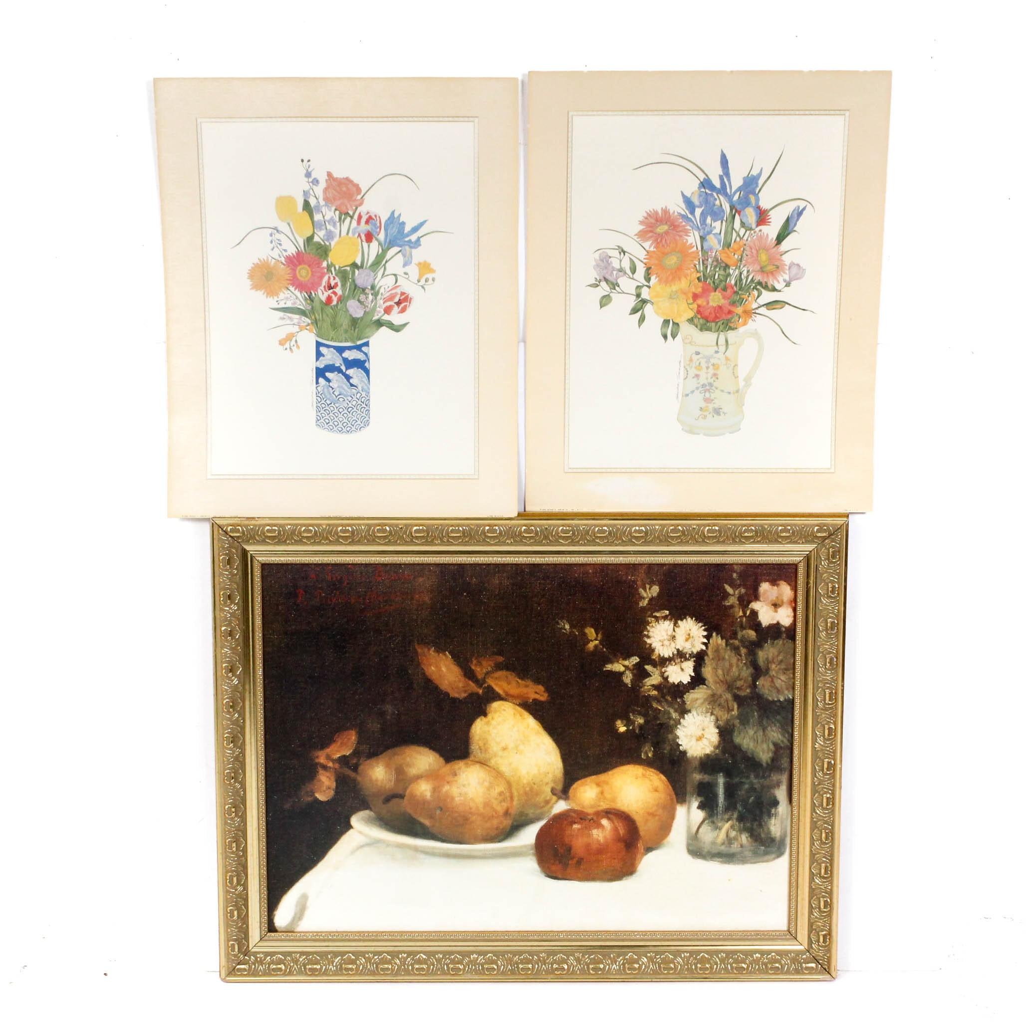 Offset Lithographs of Still Life Arrangements