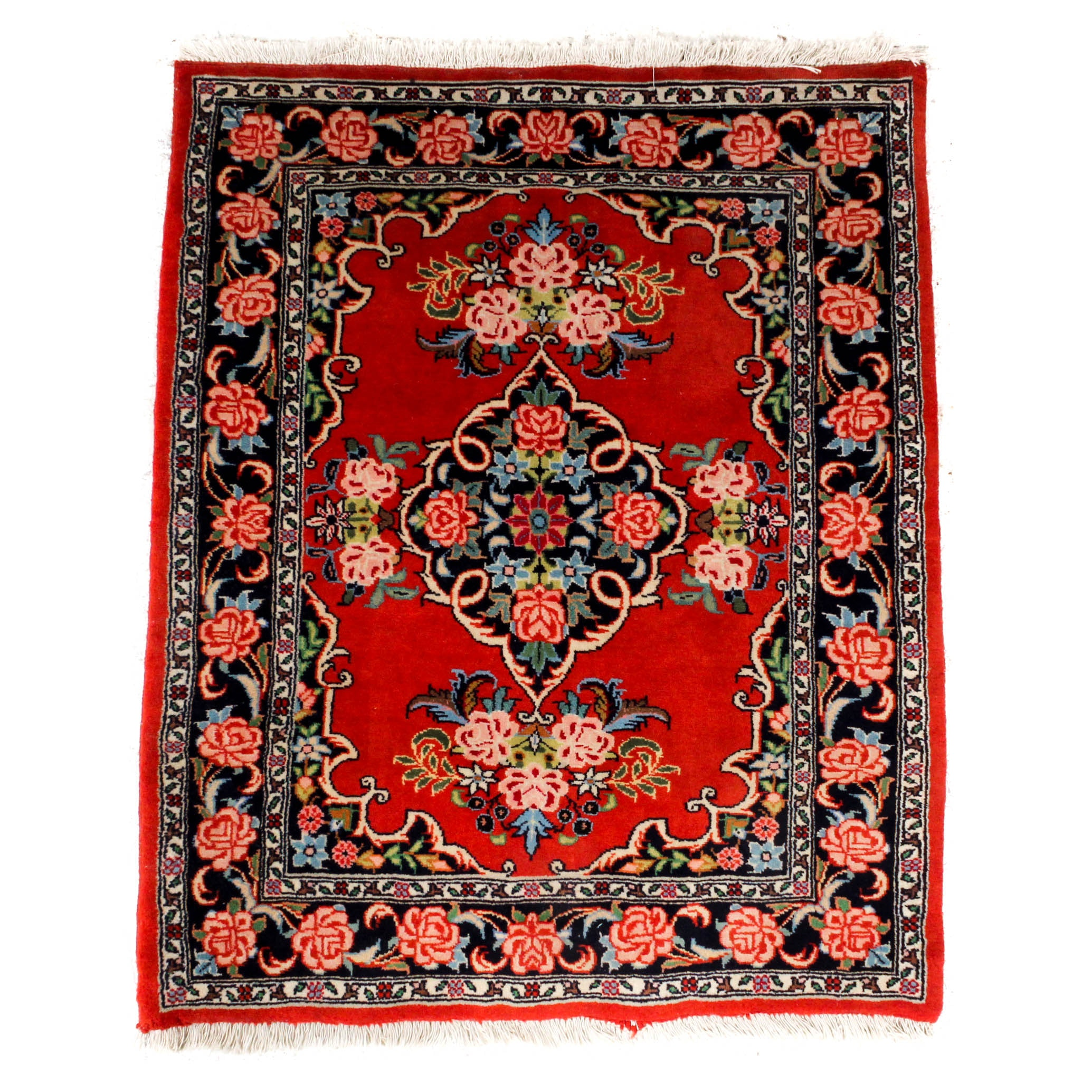 Hand-Knotted Persian Tabriz Accent Rug