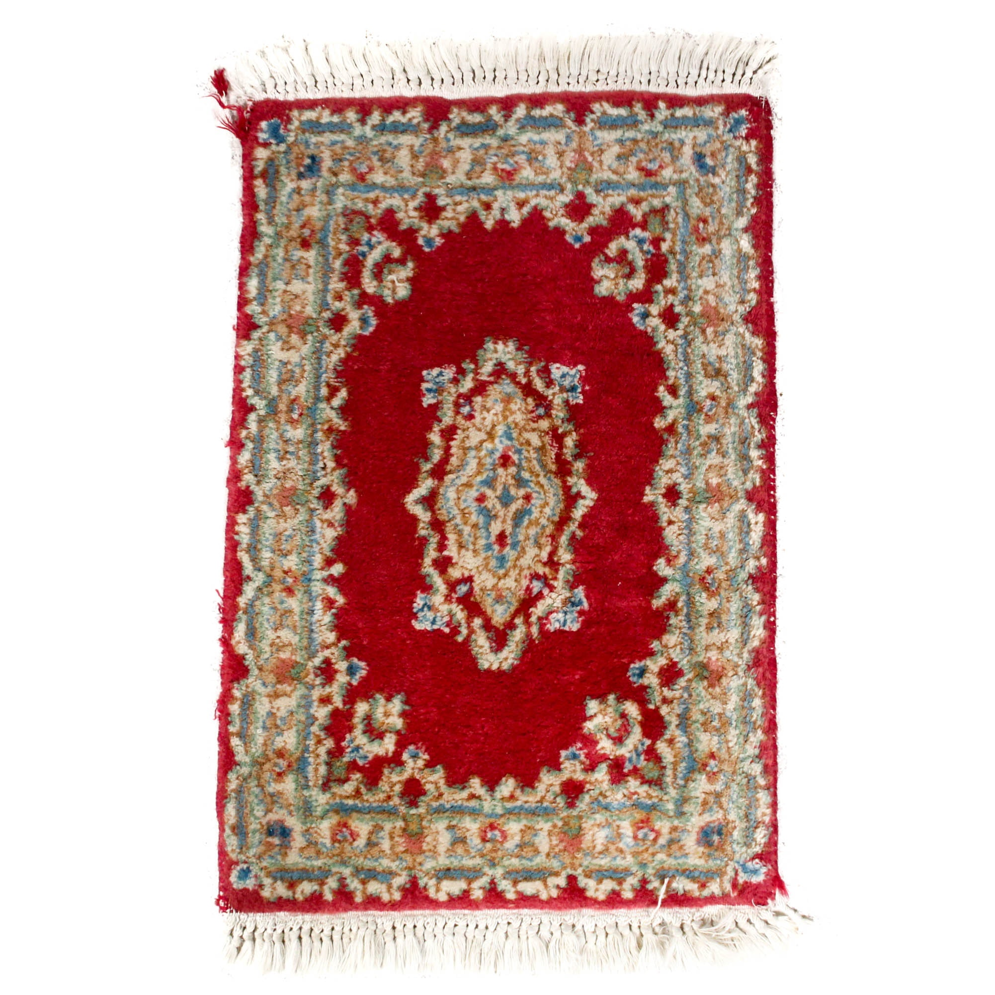 Hand-Knotted Imperial Kerman Persian Accent Rug