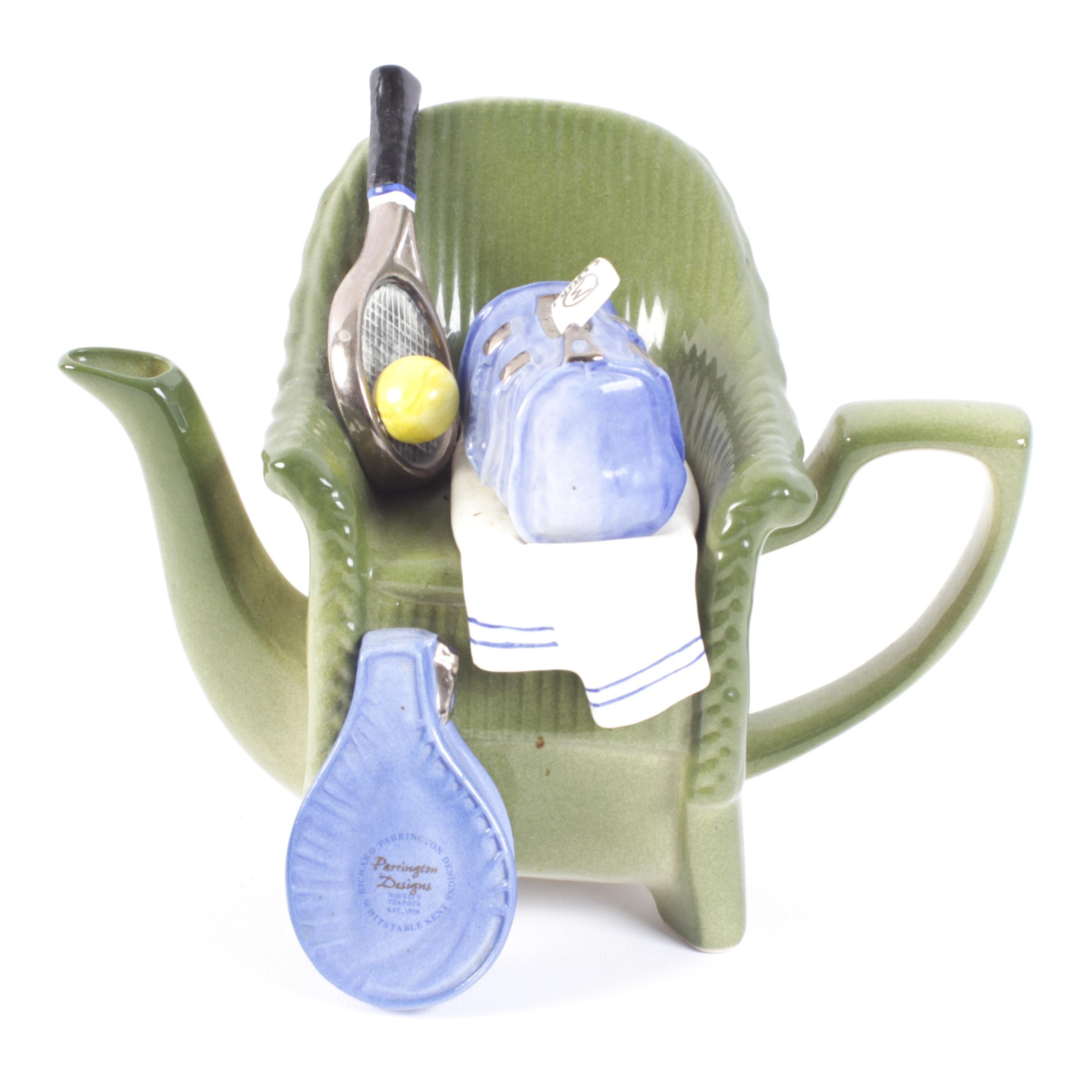Richard Parrington Tennis Chair Novelty Teapot