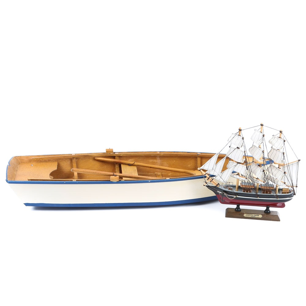Pair of Wooden Ships