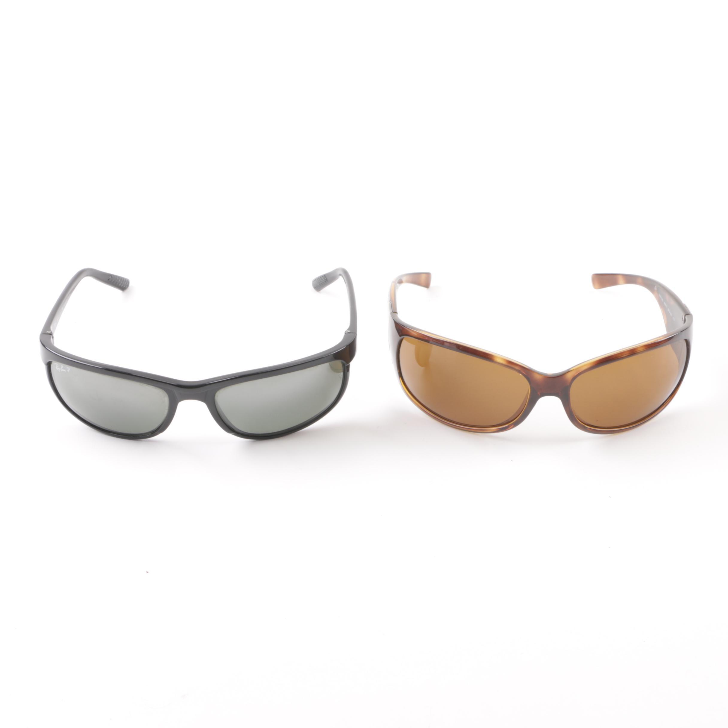 Prada and Prescription Ray-Ban Wrap Sunglasses