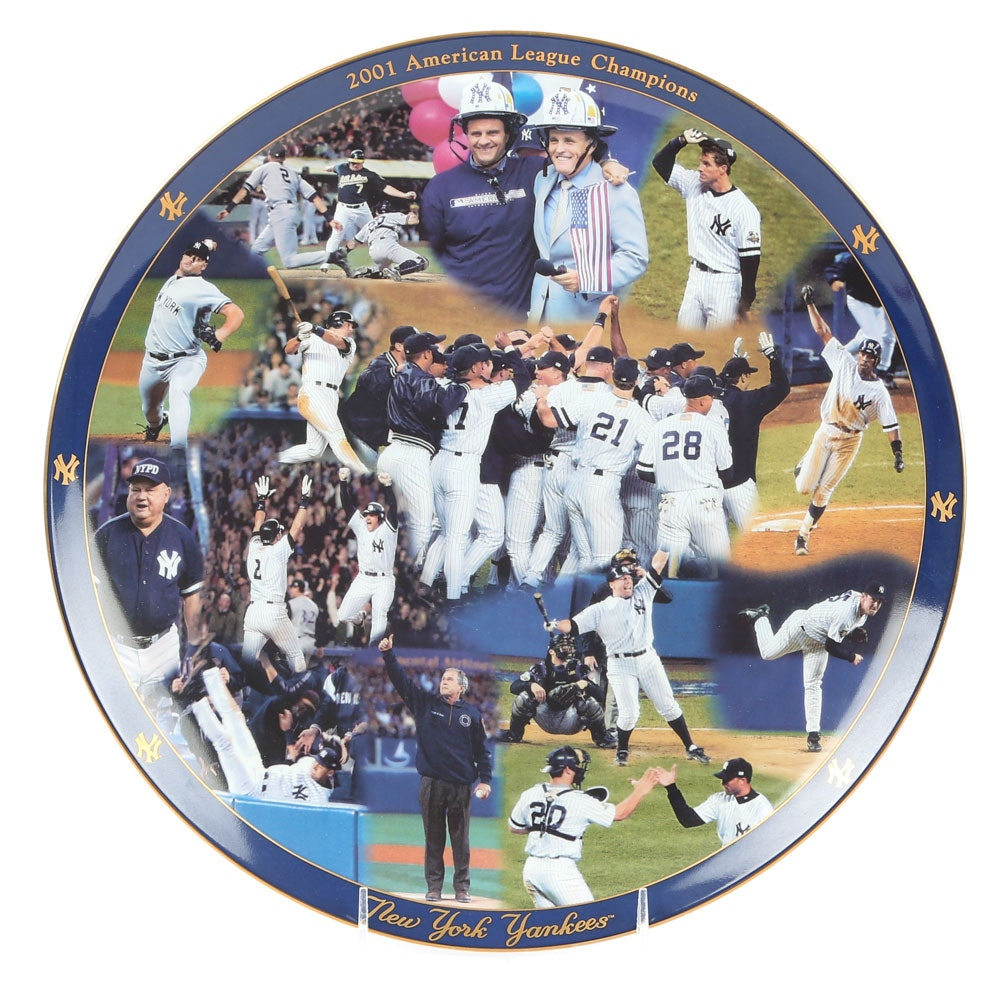 2001 American League Champions New York Yankees Plate