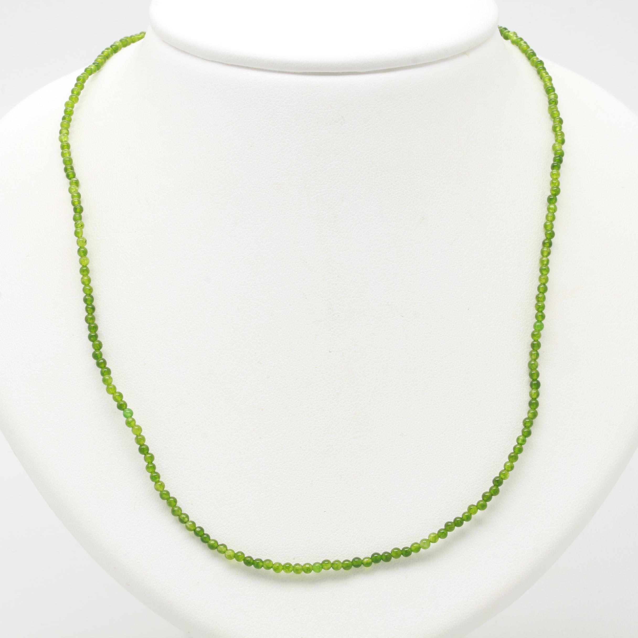 10K Yellow Gold Quartz and Cultured Pearl Beaded Necklace