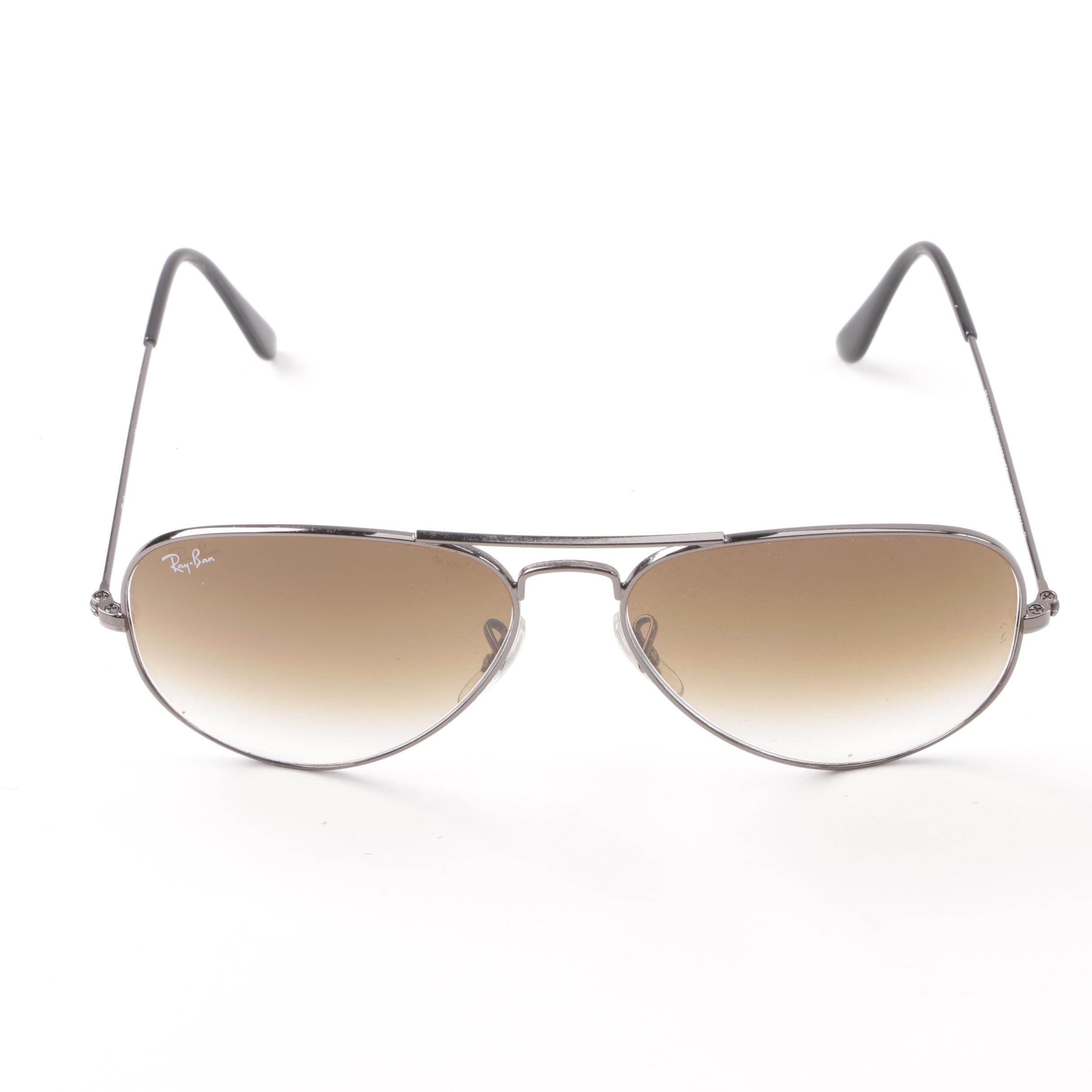 Ray-Ban RB 3025 Aviator Large Metal Sunglasses with Case