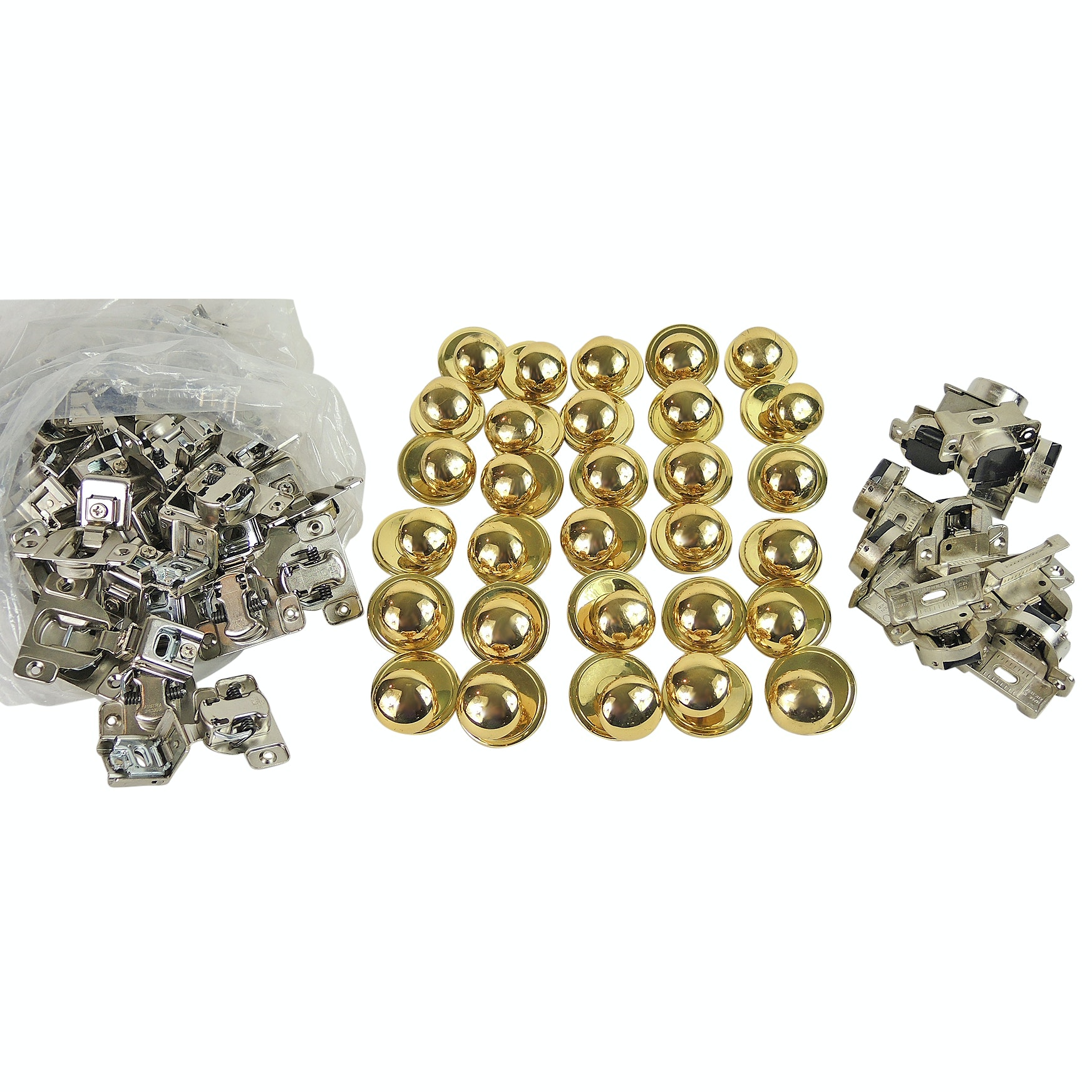 Solid Brass Drawer Knobs and Assorted Hinges