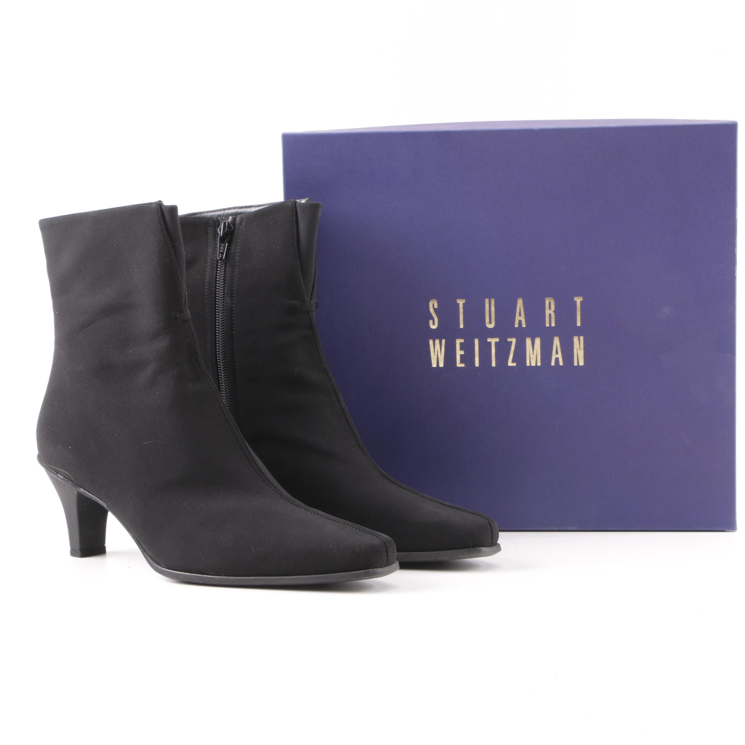 Stuart Weitzman Black Gore-Tex Ankle Booties