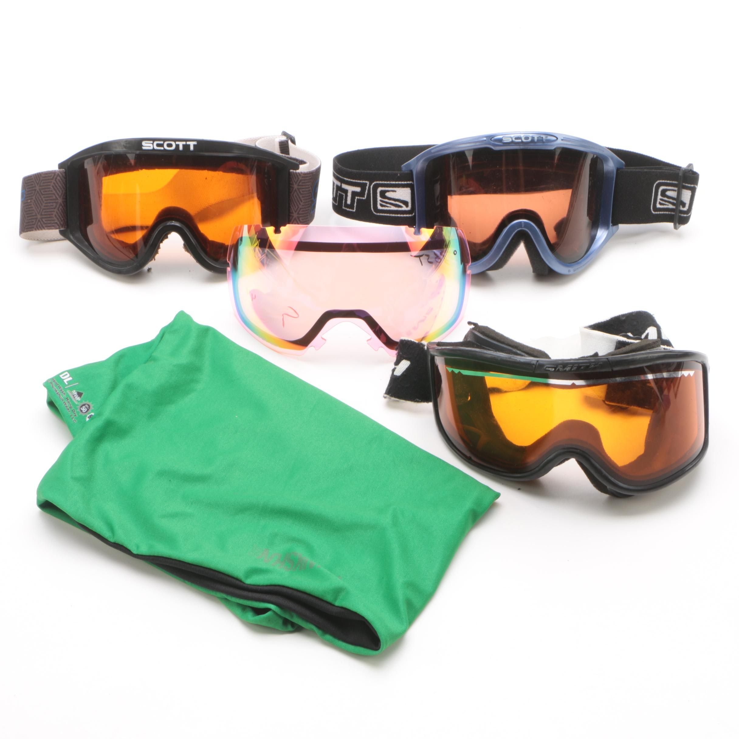 Scott and Smith Ski Goggles with Phunkshun Neck Tube