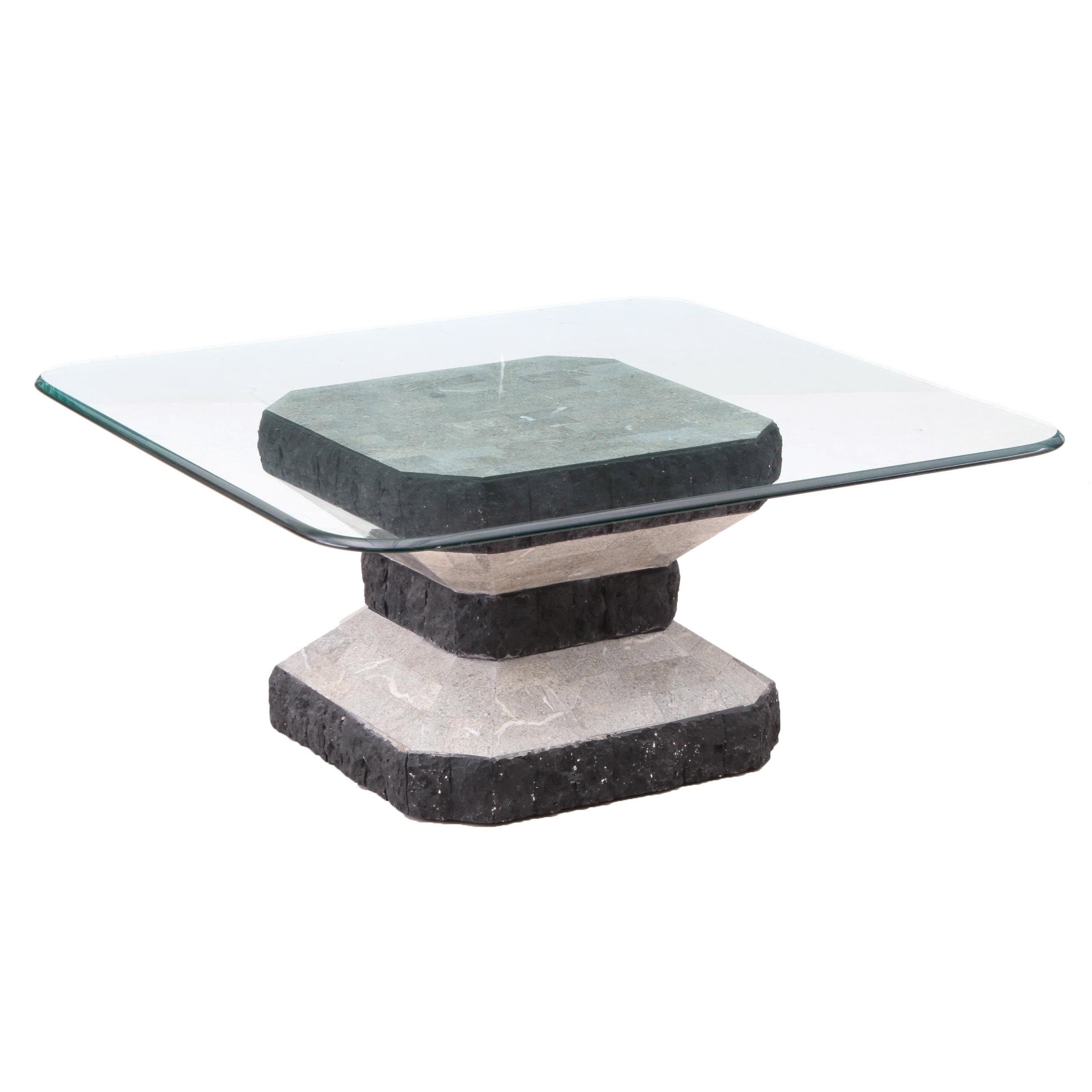 Glass Top Coffee Table, Late 20th Century