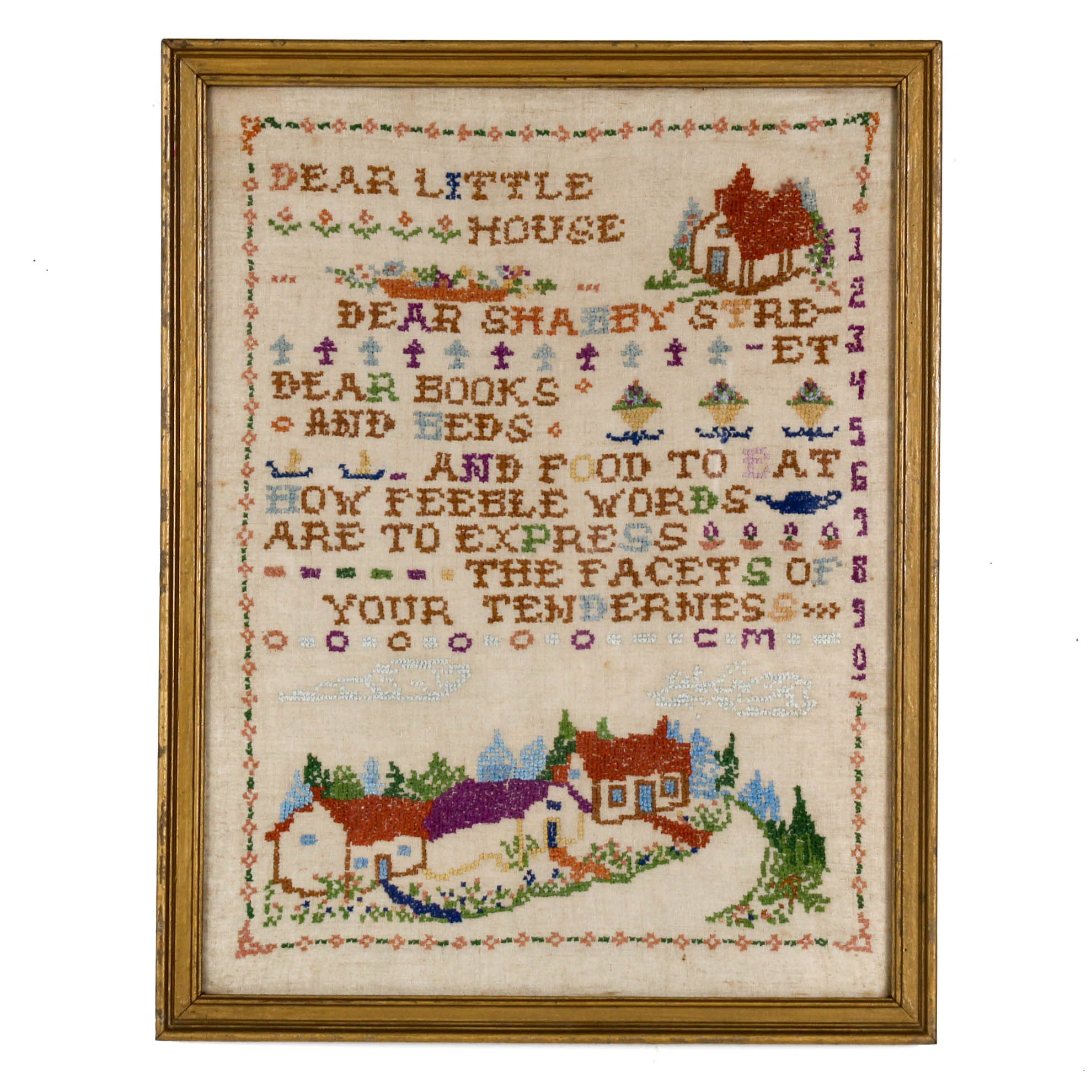 Margaret Mason 1930 Cross Stitch Sampler