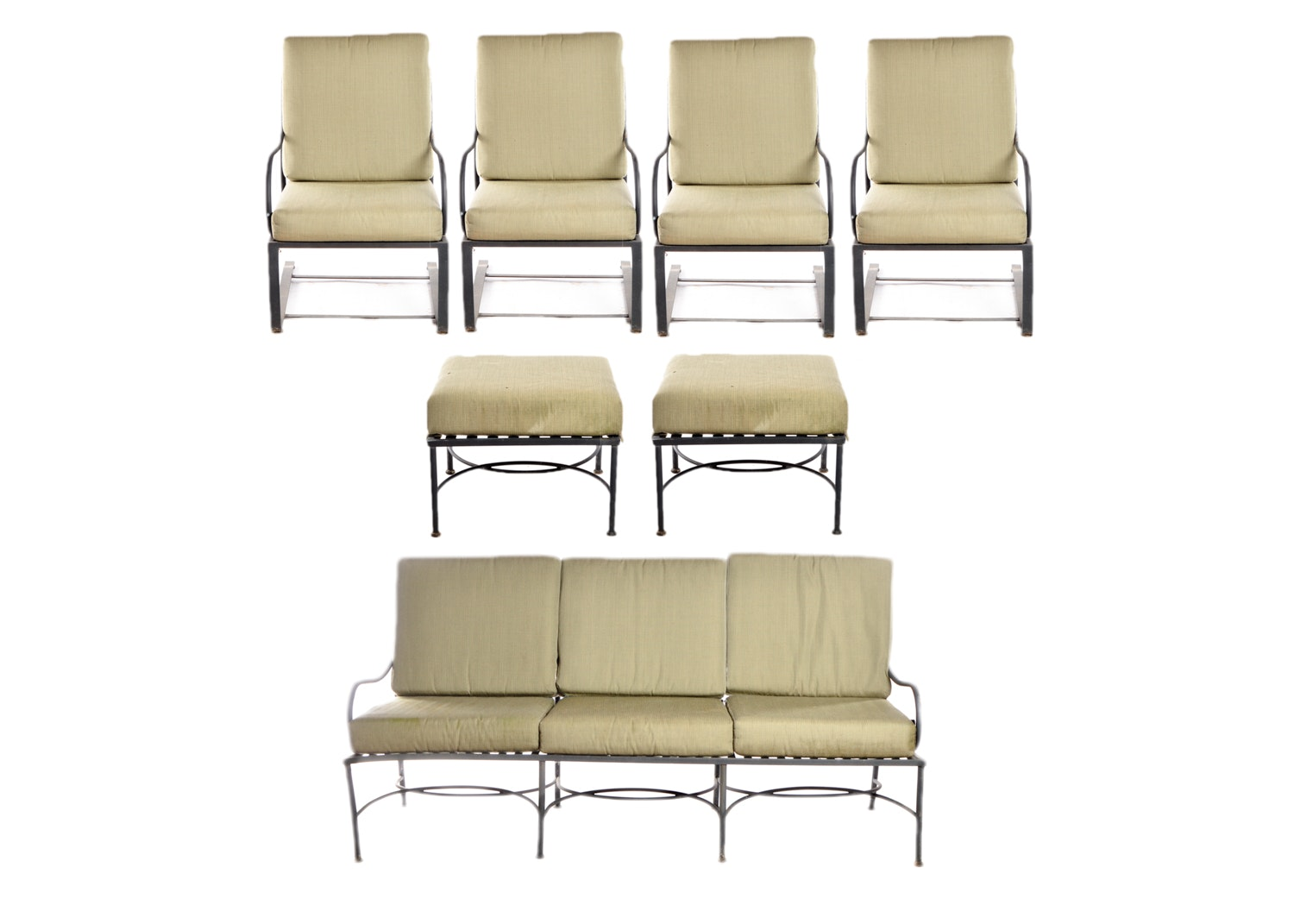 Metal Patio Furniture with Cushions