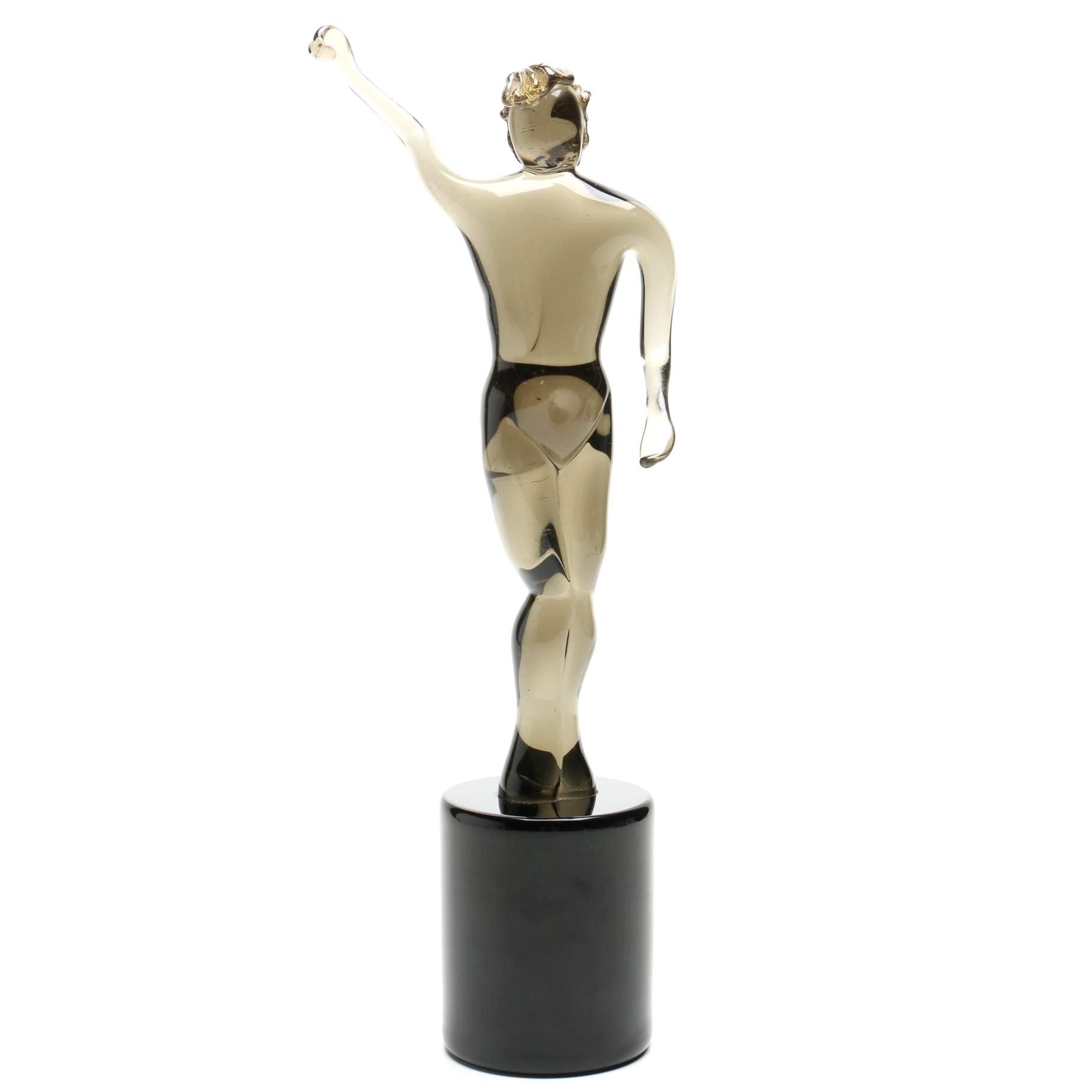 Art Glass of a Standing Man