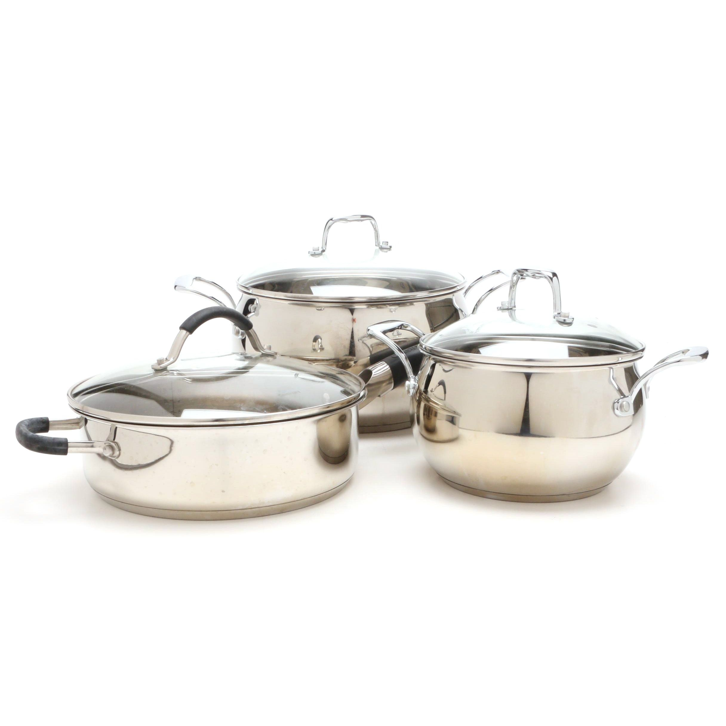 Palm Restaurant Stainless Steel Cookware with a Cuisinart Pan