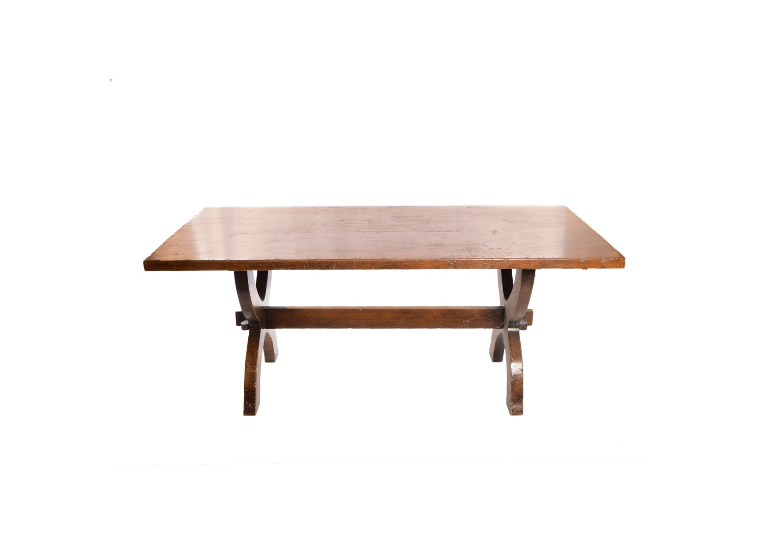 Stained Oak Dining Table, 20th Century