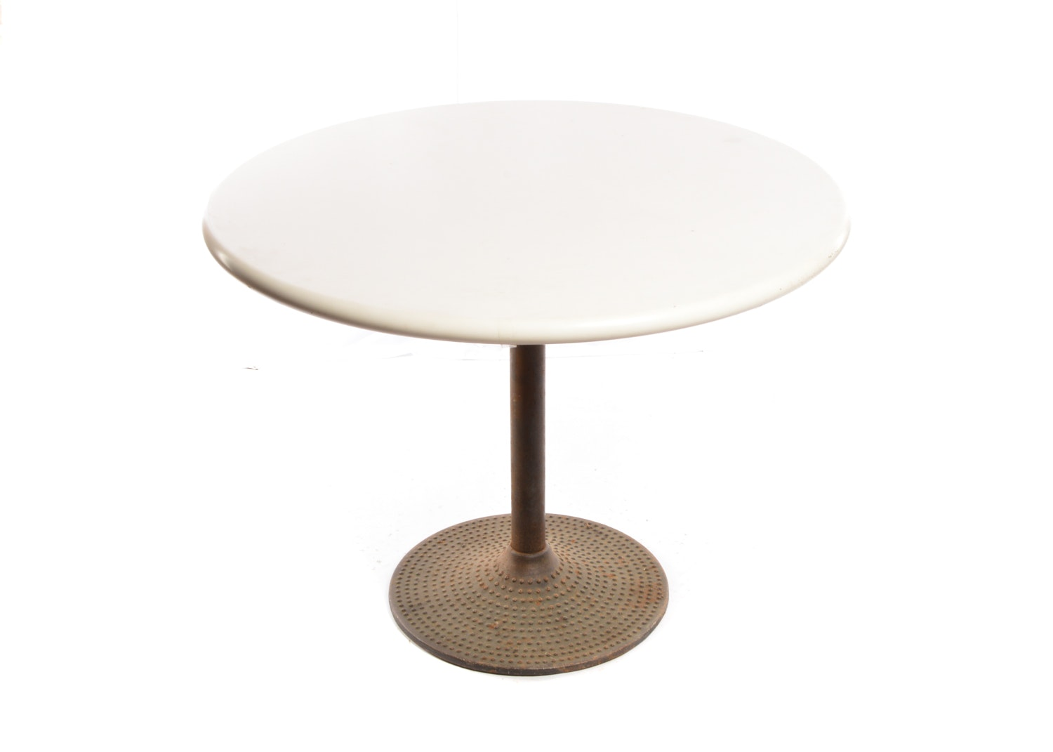 Mid Century Modern Metal Pedestal Dining Table, 20th Century
