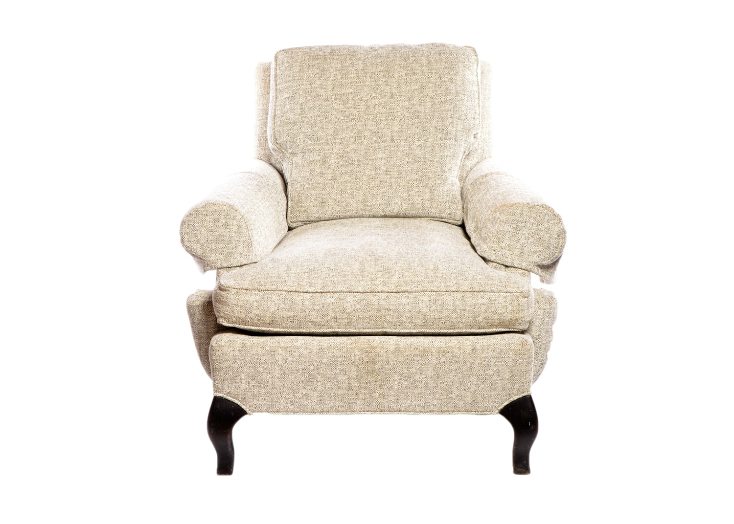 Tweed Upholstered Lounge Chair by Hickory Chair Company, 21st Century