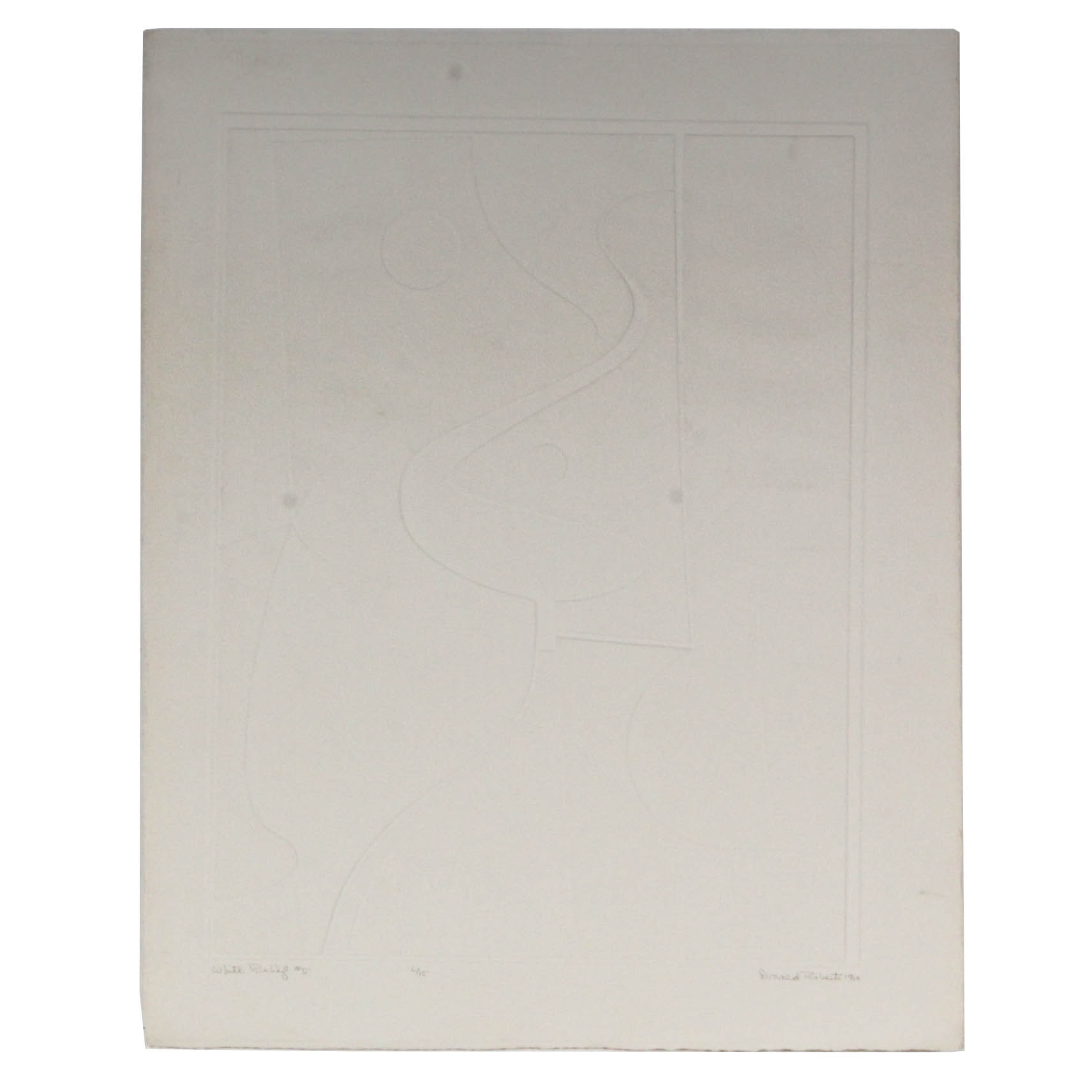"Donald Roberts 1960 Blind Embossing ""White Relief #5"""