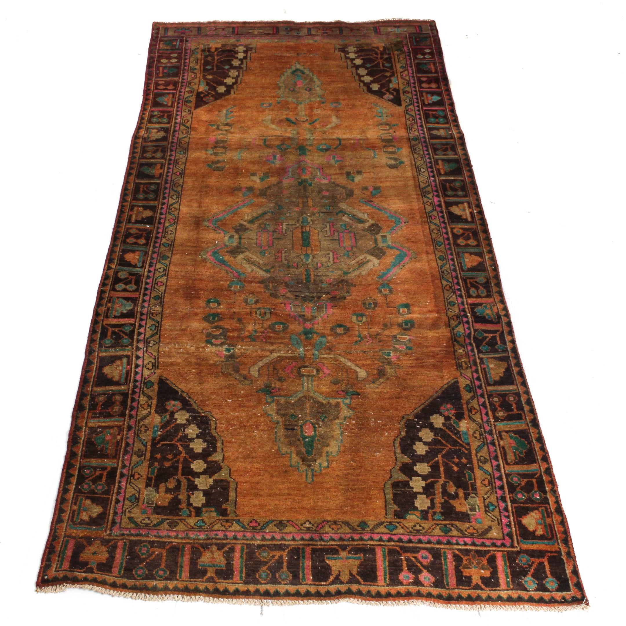 Semi-Antique Hand-Knotted Persian Mahal Sarouk Rug