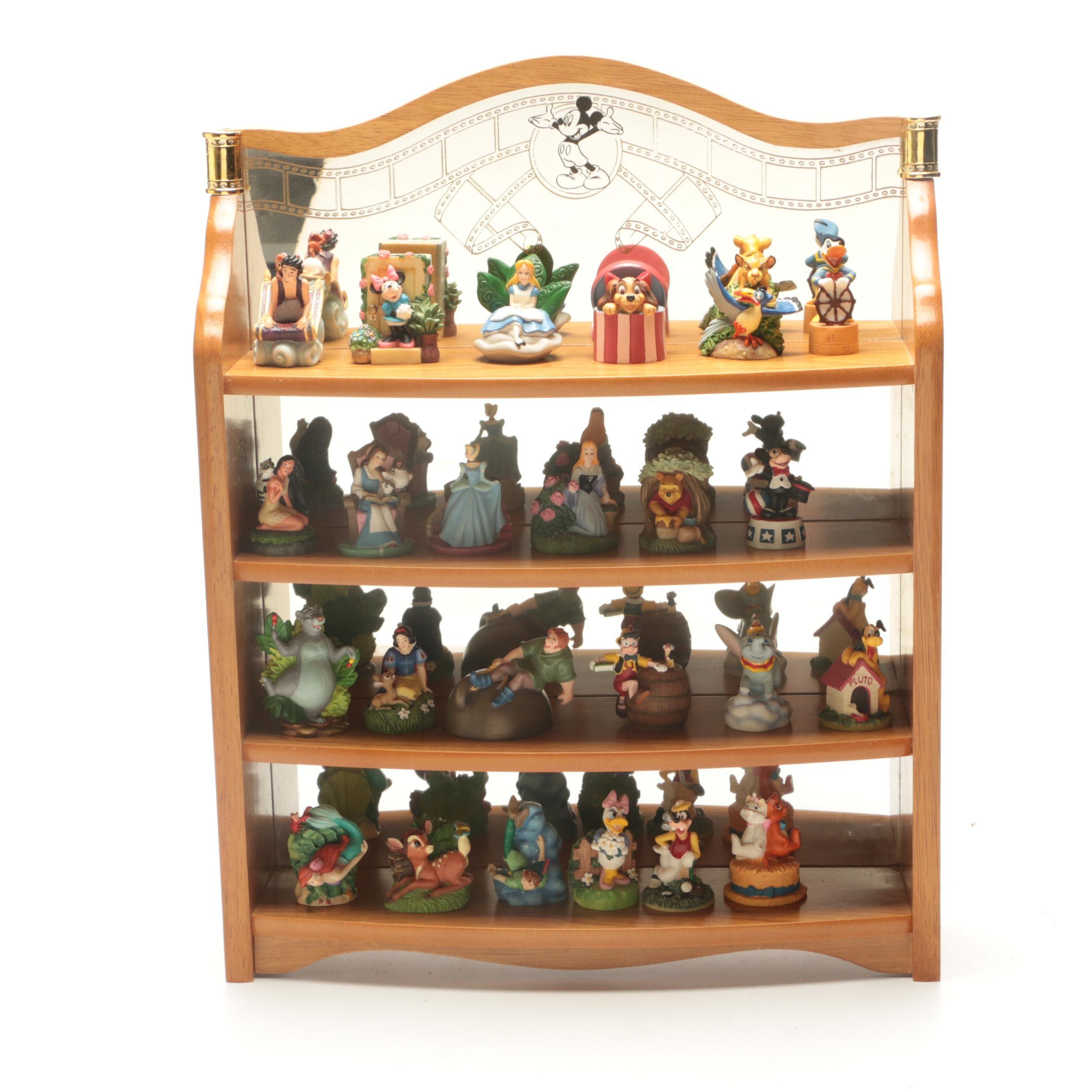 Lenox Disney Thimbles with Mirrored Display Shelf