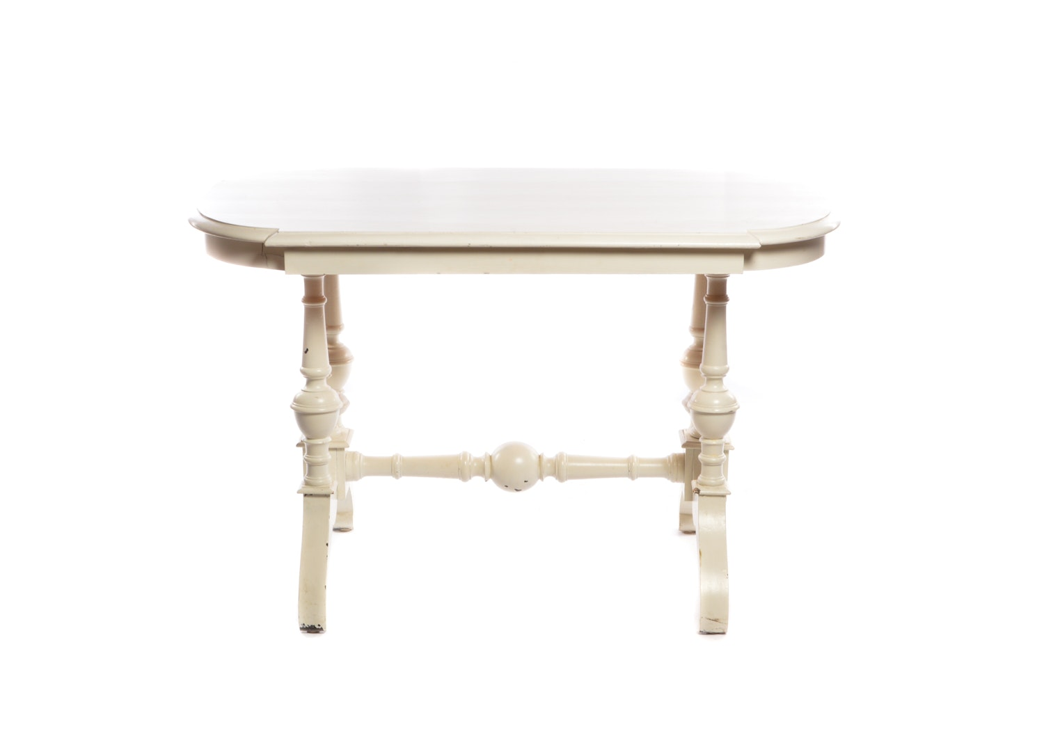 William and Mary Style Painted Wood Side Table, Late 20th Century