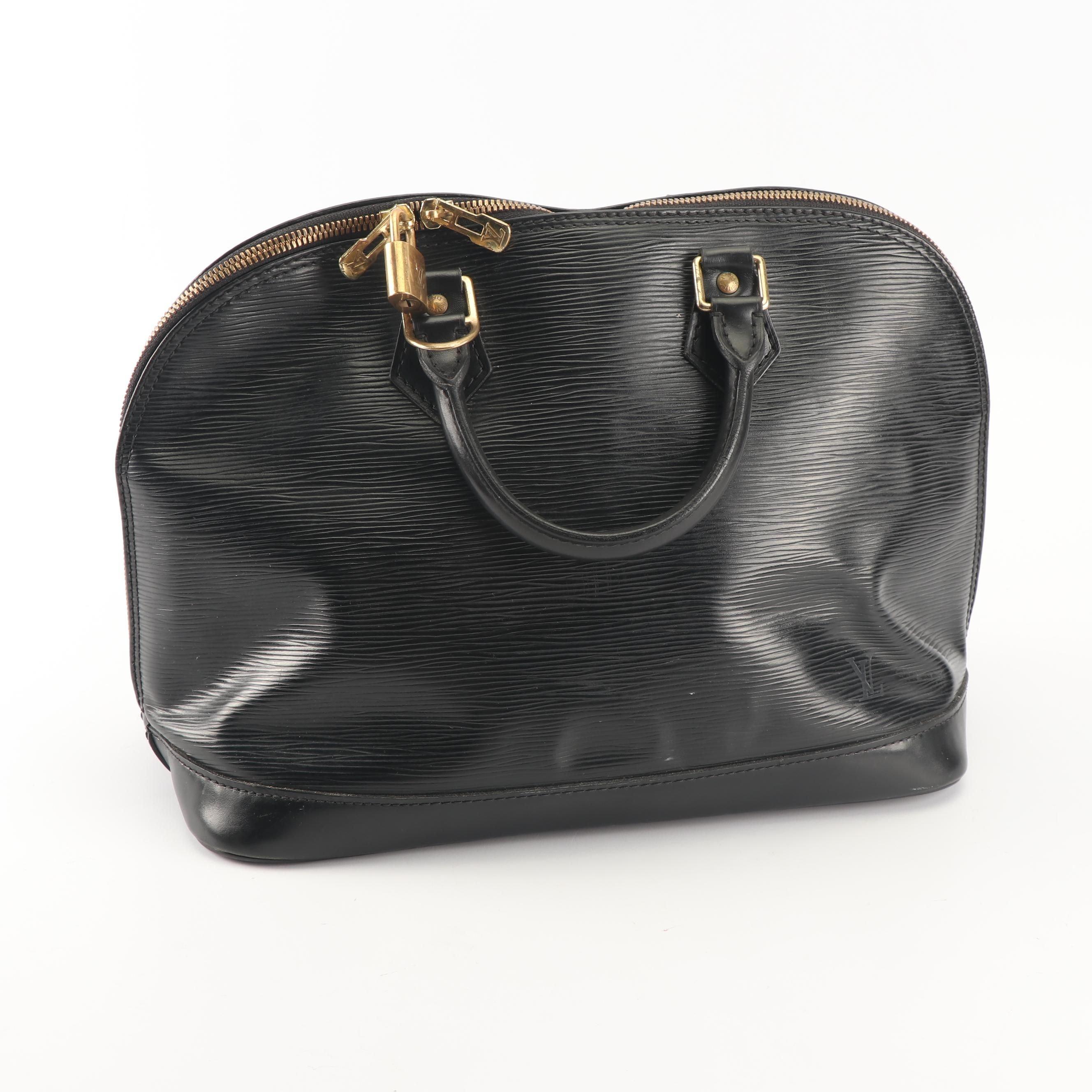 1996 Louis Vuitton Black Epi Leather Alma PM Satchel