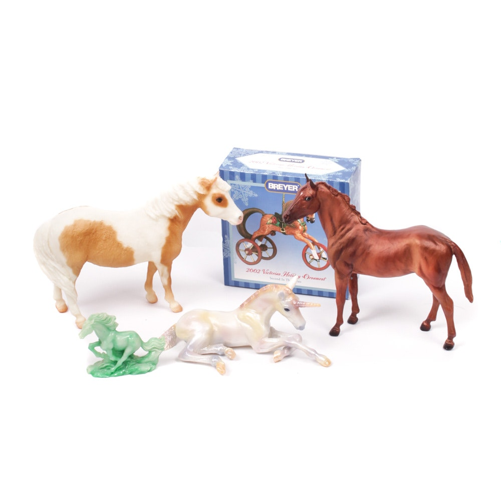Breyer Foals and Unicorn with Ornament and Horse Figurine
