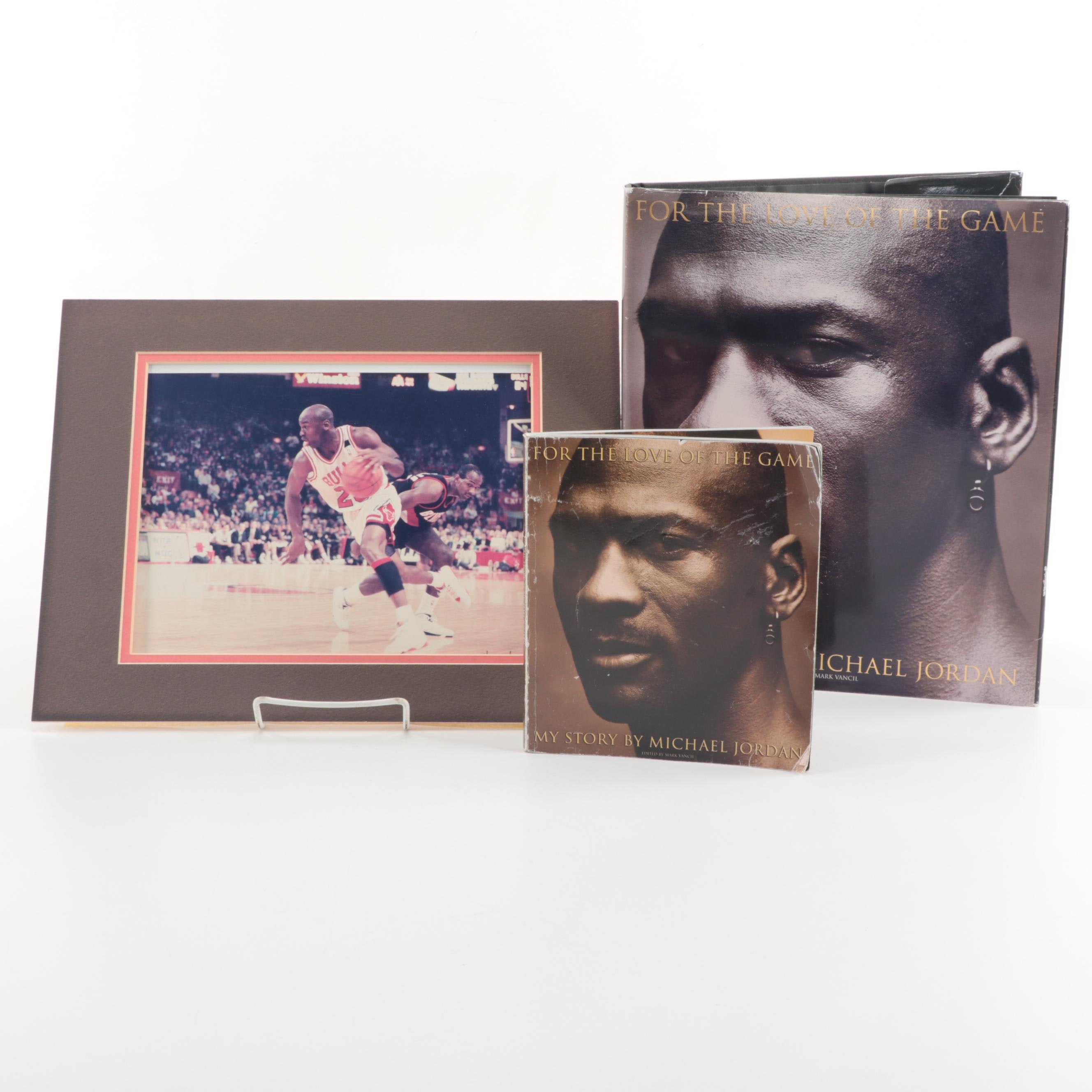 "Michael Jordan Photograph and Books ""For the Love of the Game"""
