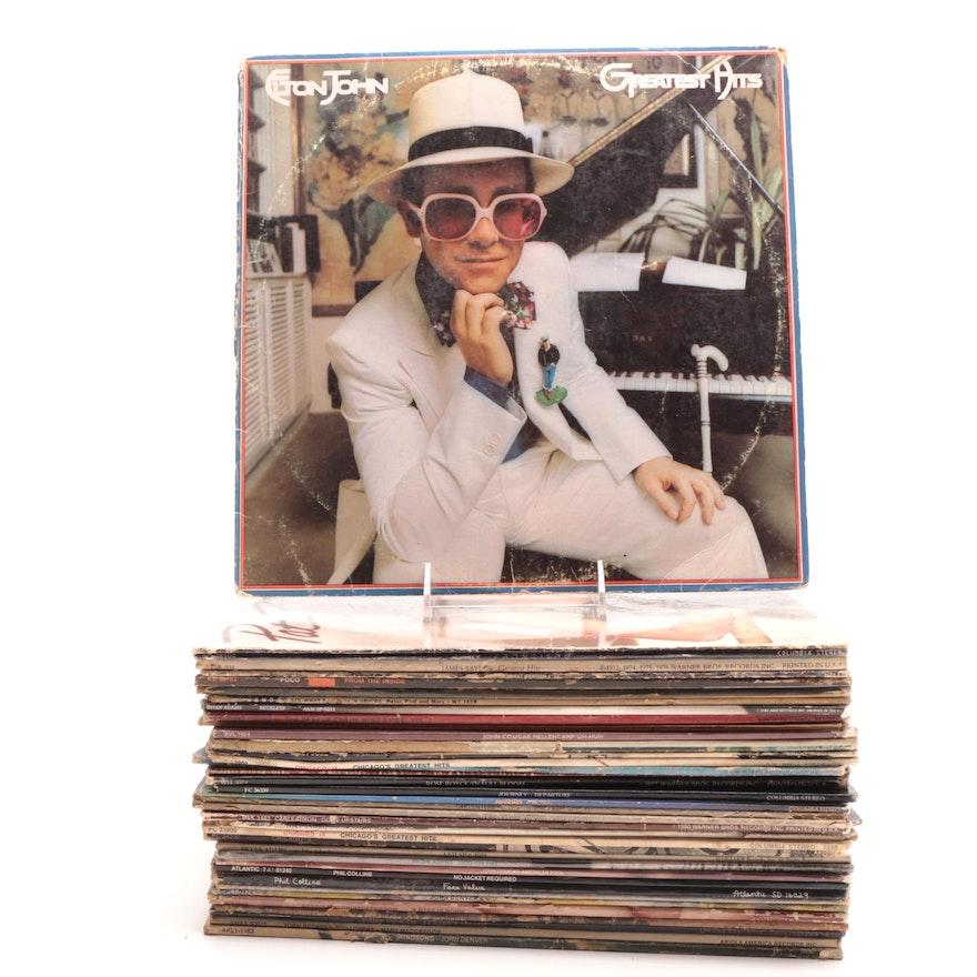 Assorted Vinyl Albums Including Journey