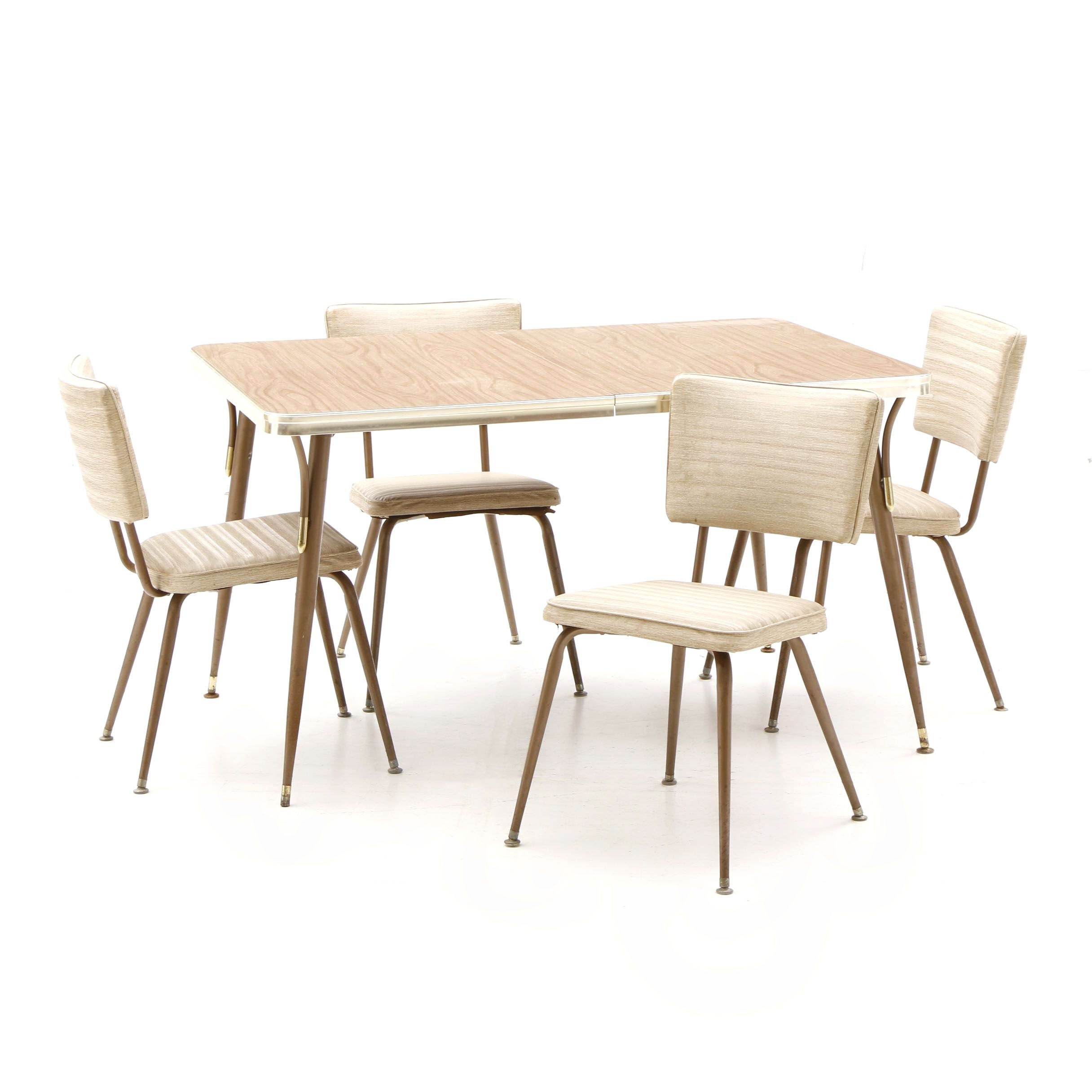 Mid Century Modern Metal and Laminate Dining Set by Daystom, Mid 20th Century