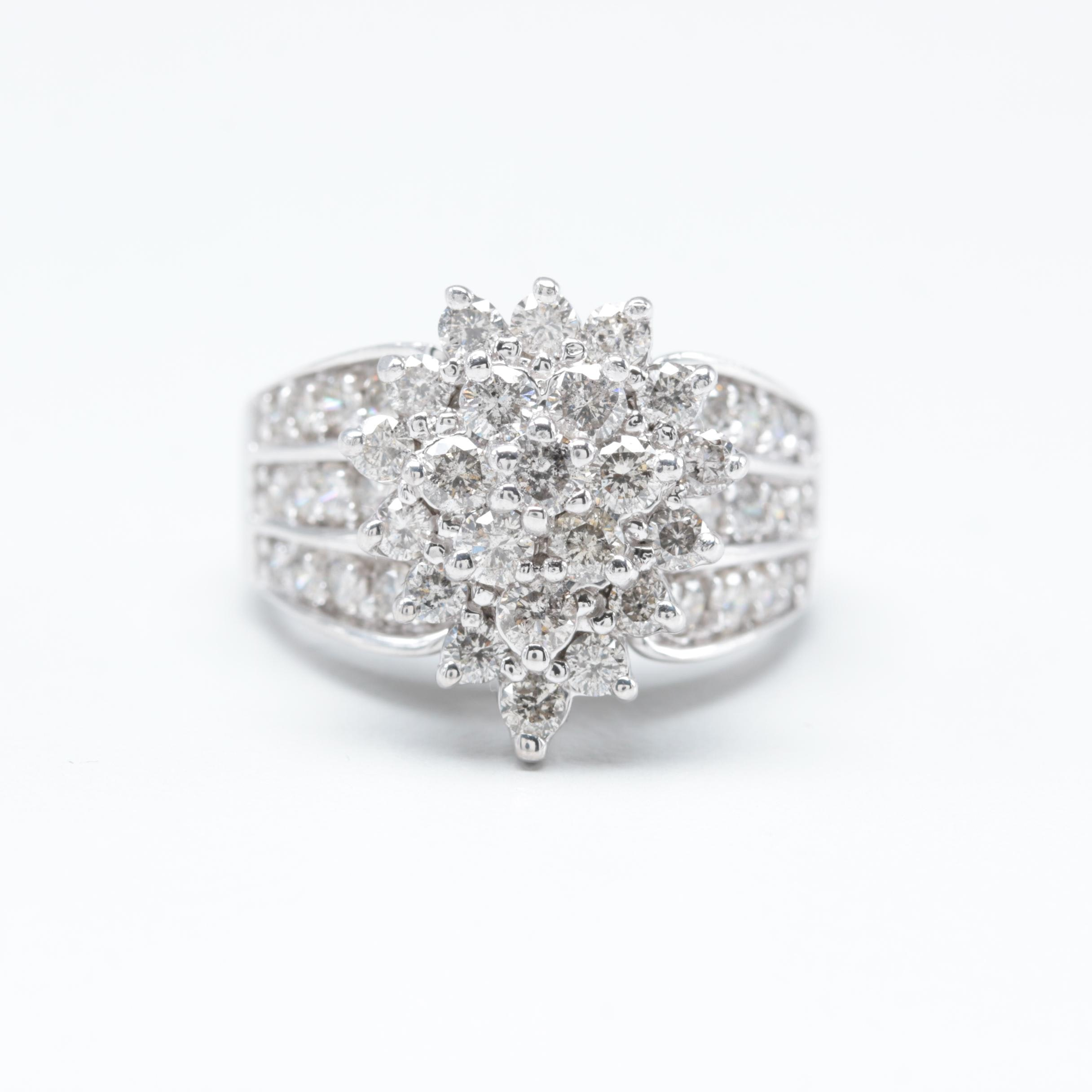 14K White Gold 2.00 CTW Diamond Ring