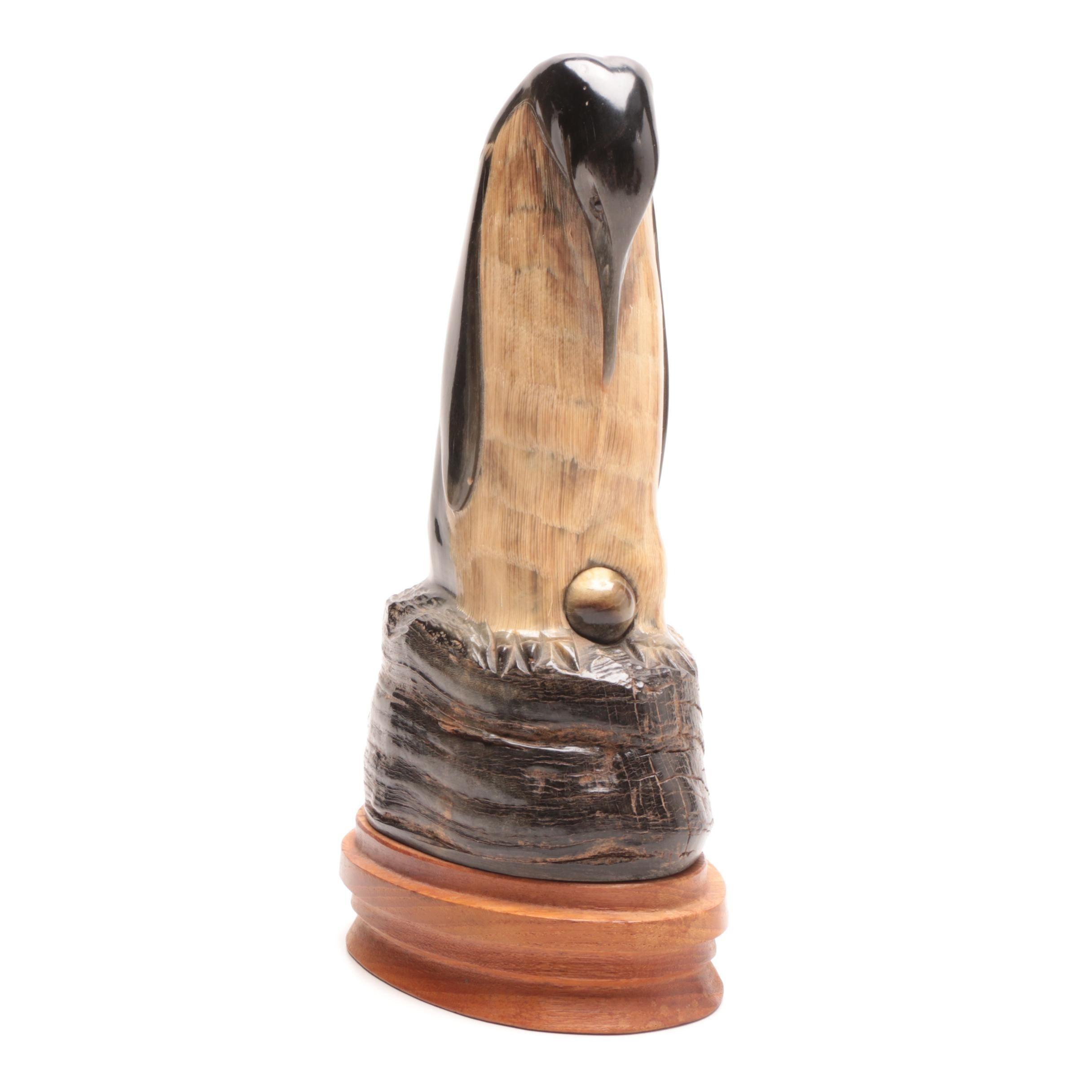 Carved Horn Emperor Penguin