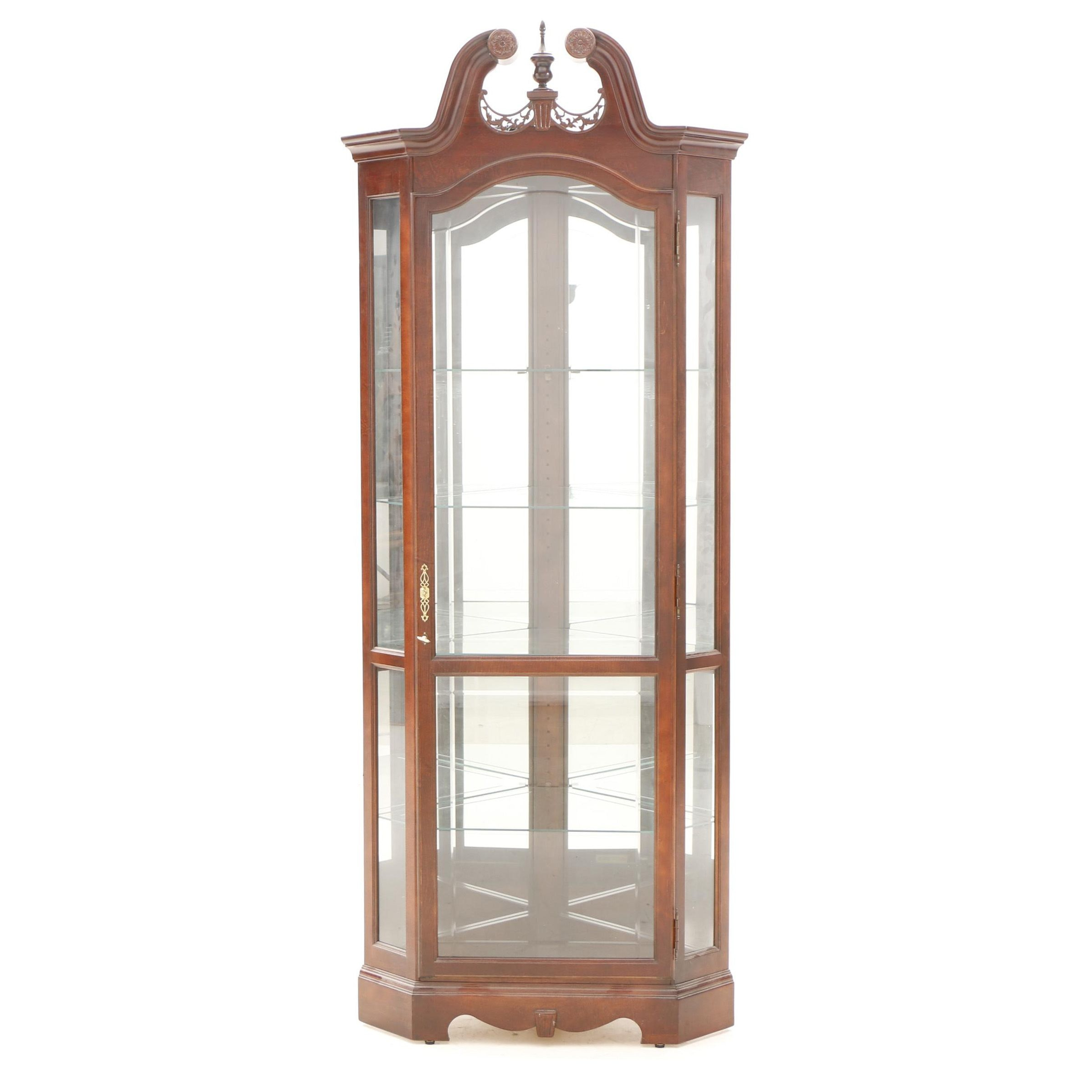 Chippendale Style Curio Cabinet by Howard Miller
