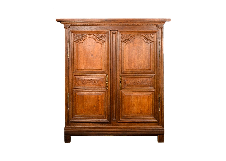 Late Victorian Style Oak Wardrobe, 20th Century