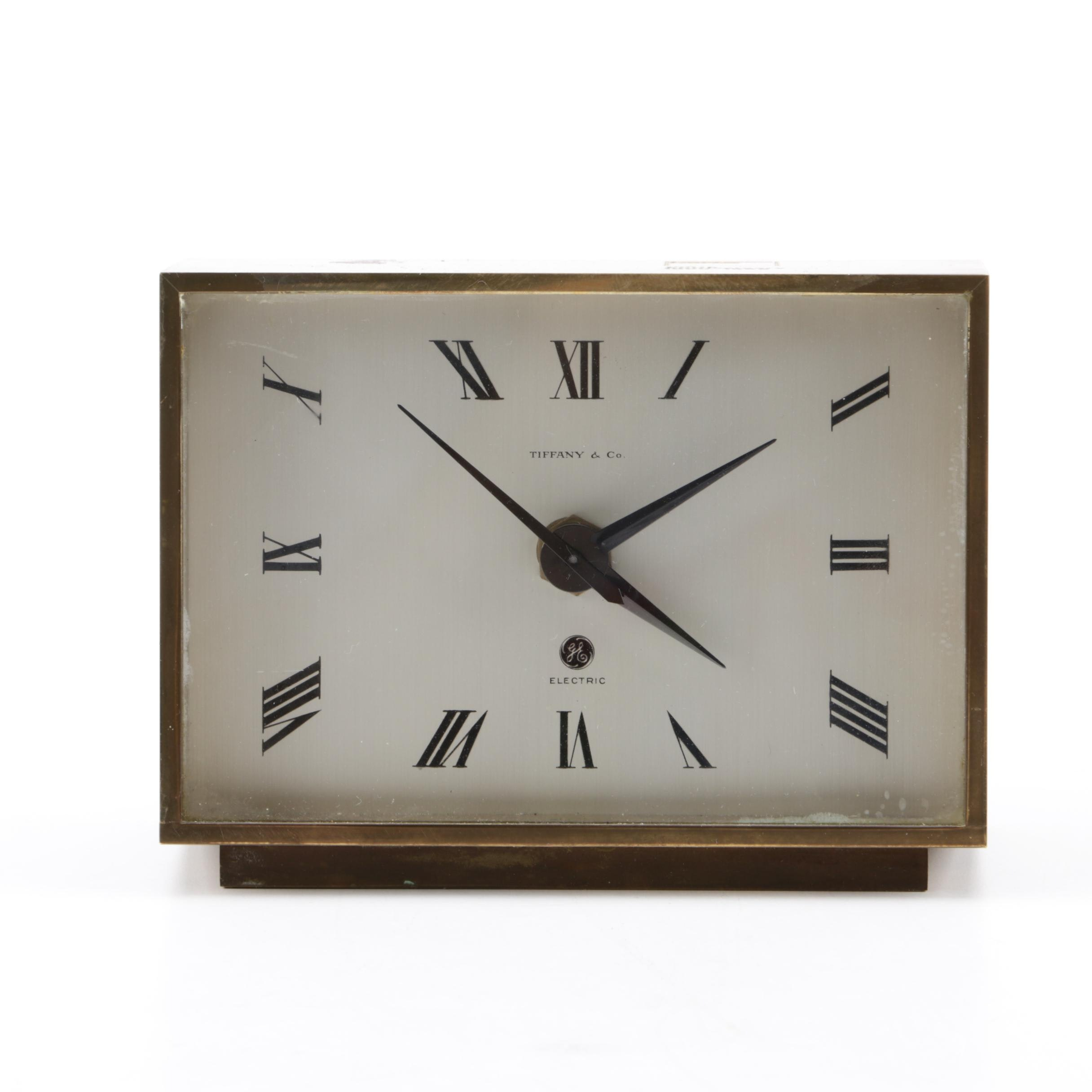 Tiffany & Co. Brass General Electric Desk Clock, Circa 1969