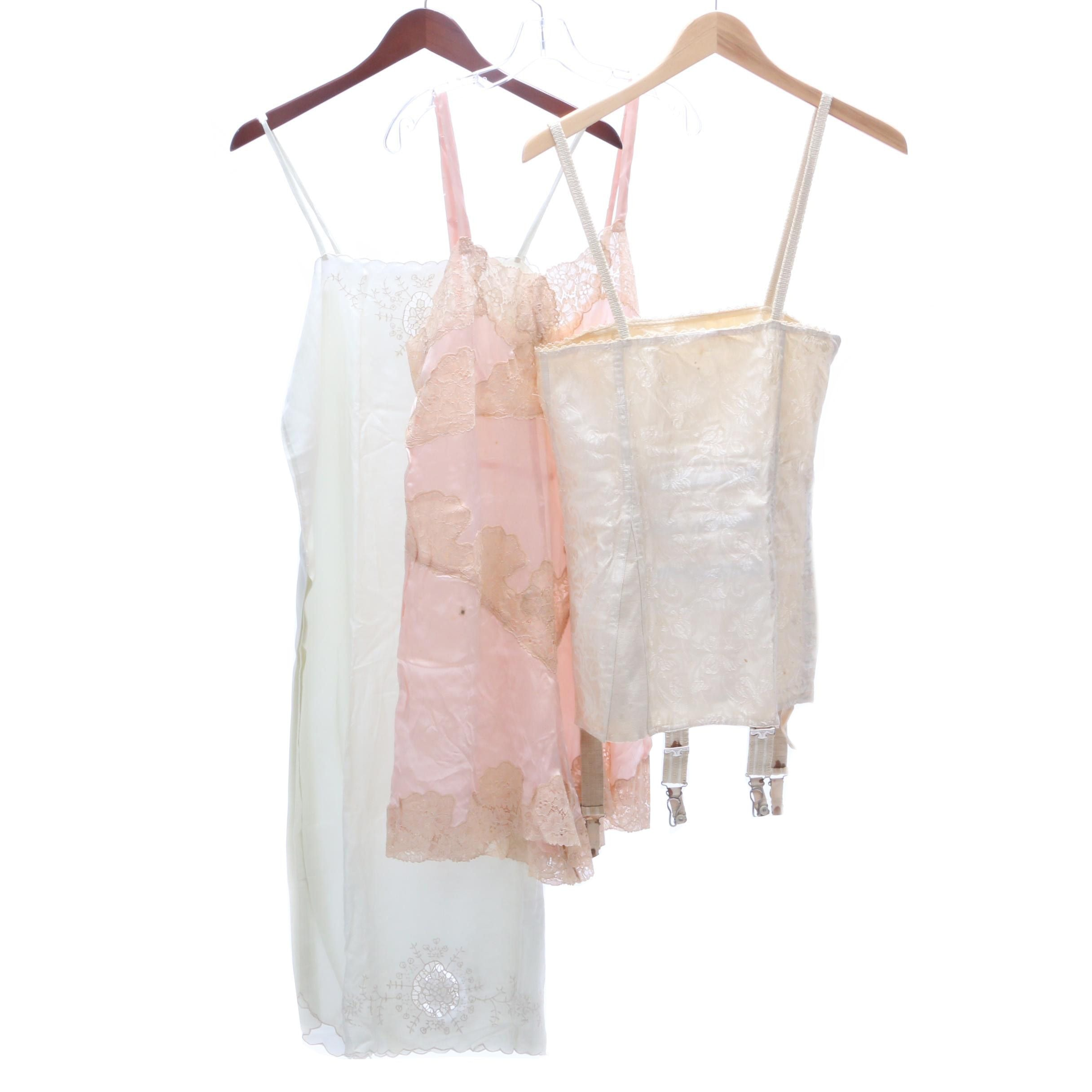 Circa 1920s Vintage Undergarments and Sleepwear