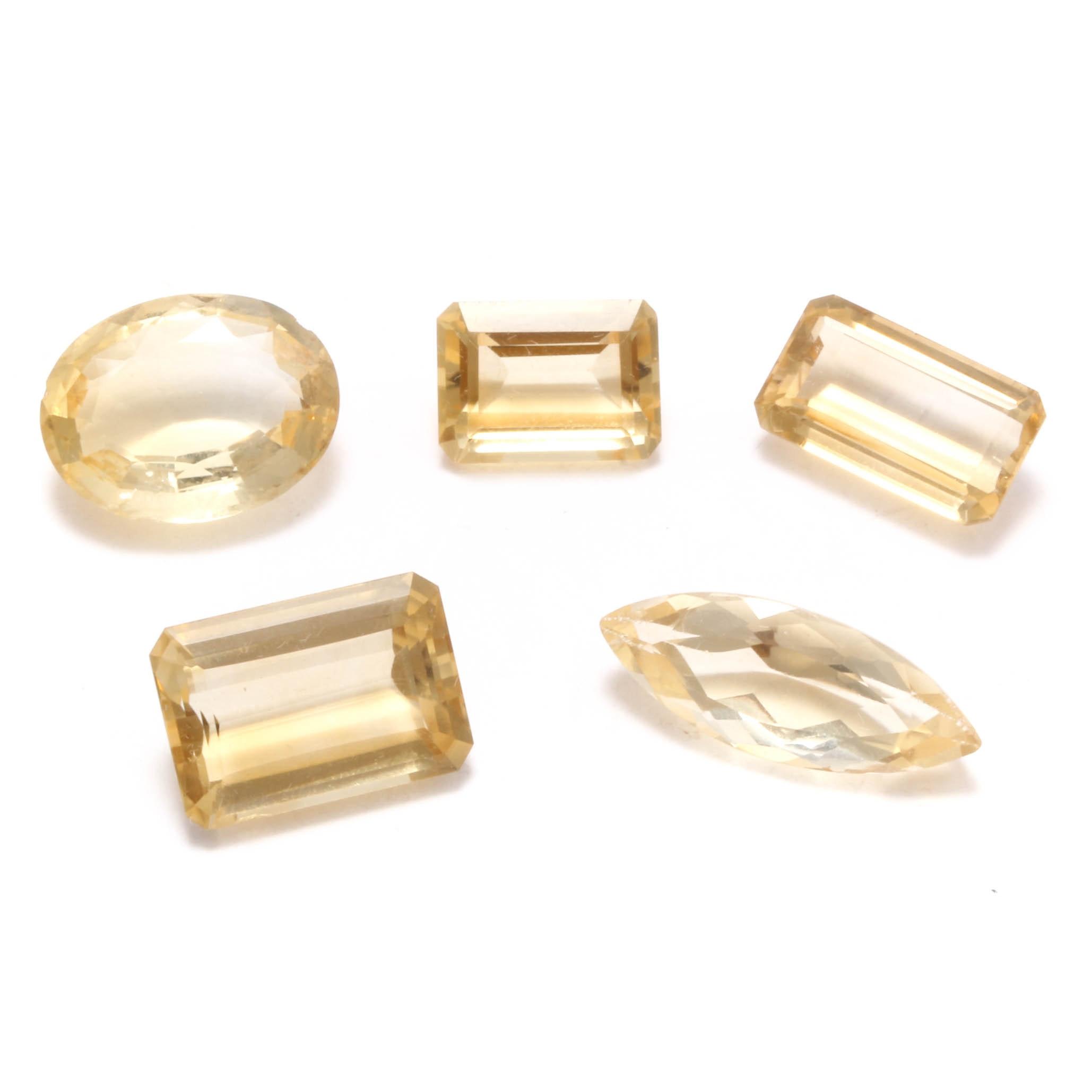 Loose 64.24 CTW Citrine Gemstones