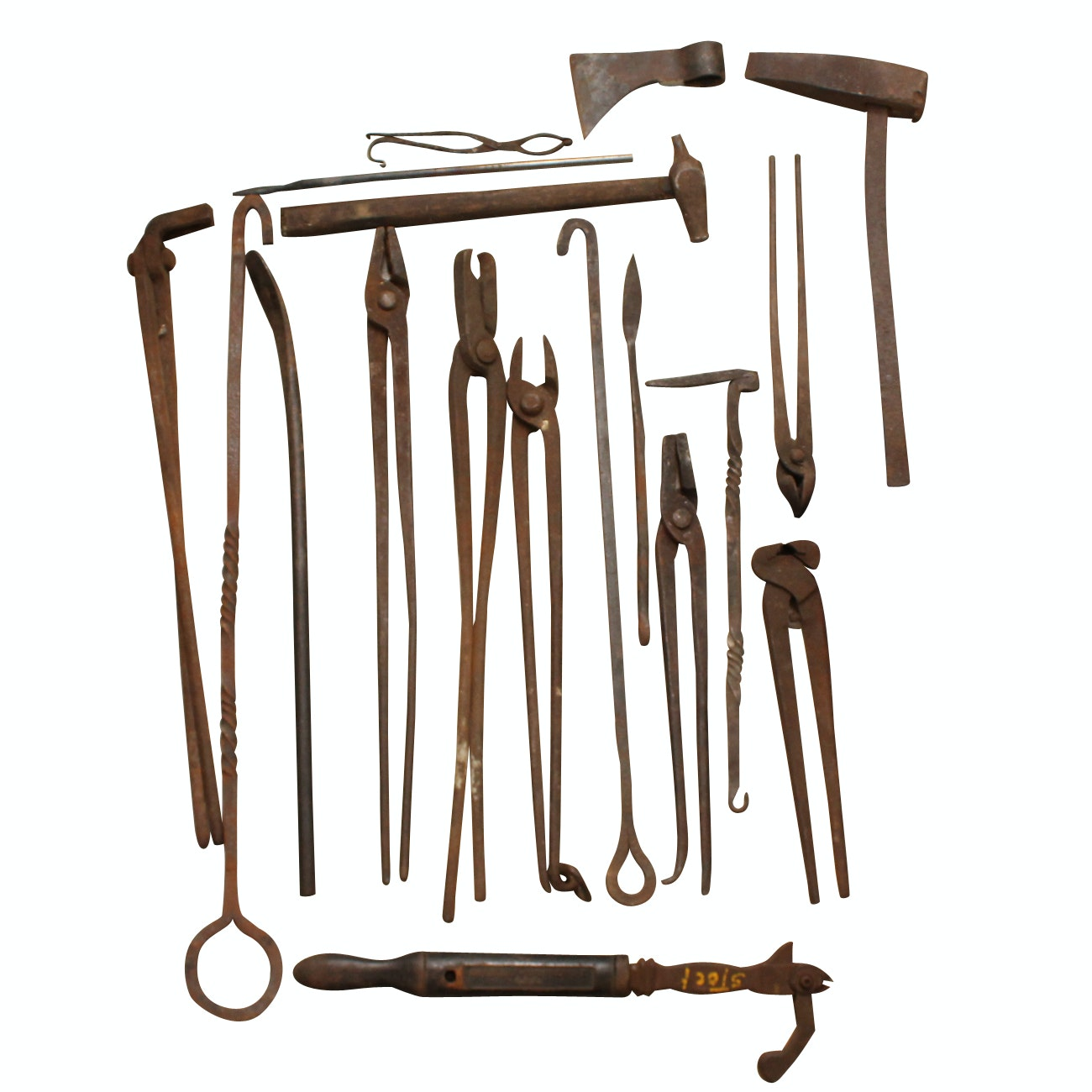 Collection of Antique Blacksmith Tools