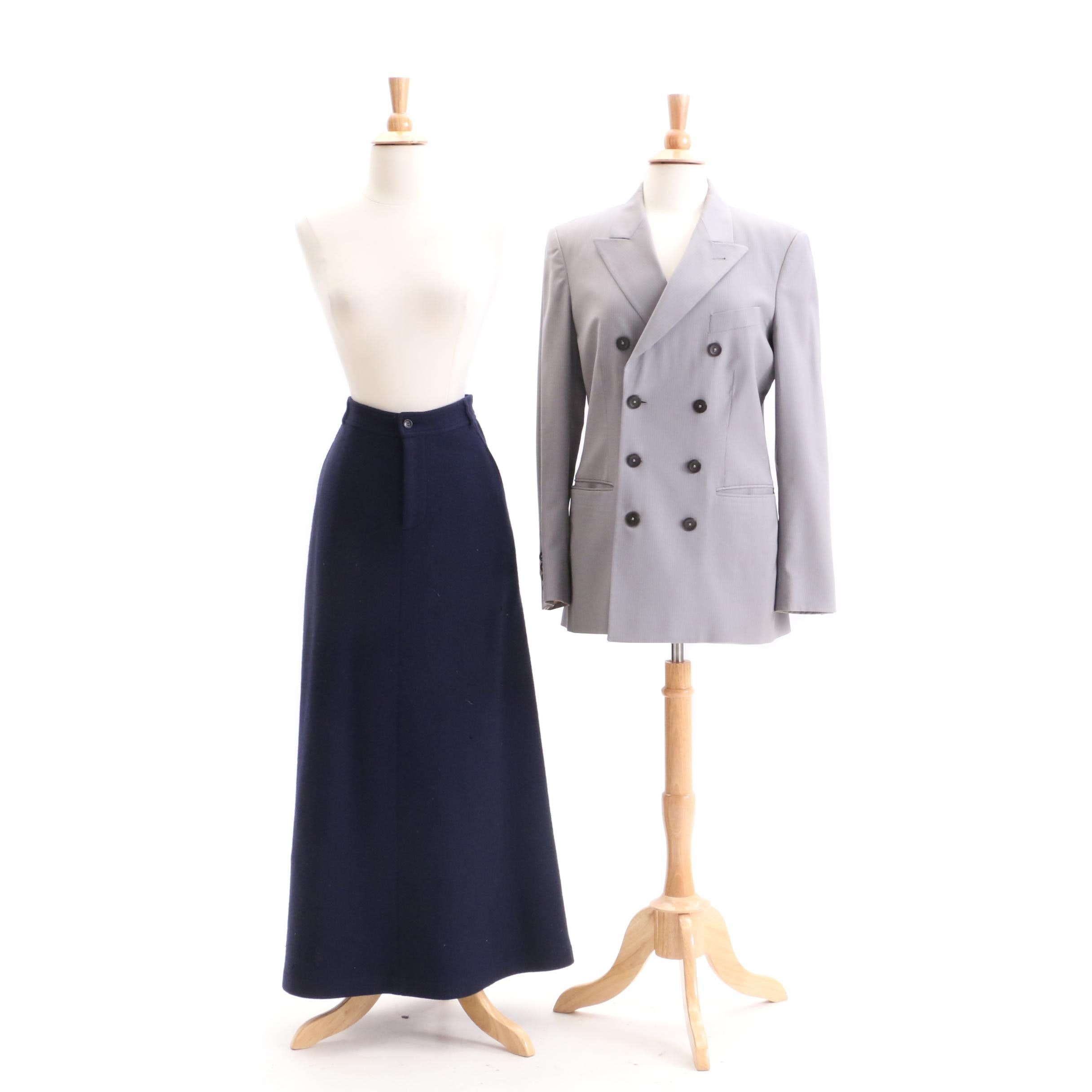 Women's Jean Paul Gaultier Jacket and Comme des Garçons Skirt