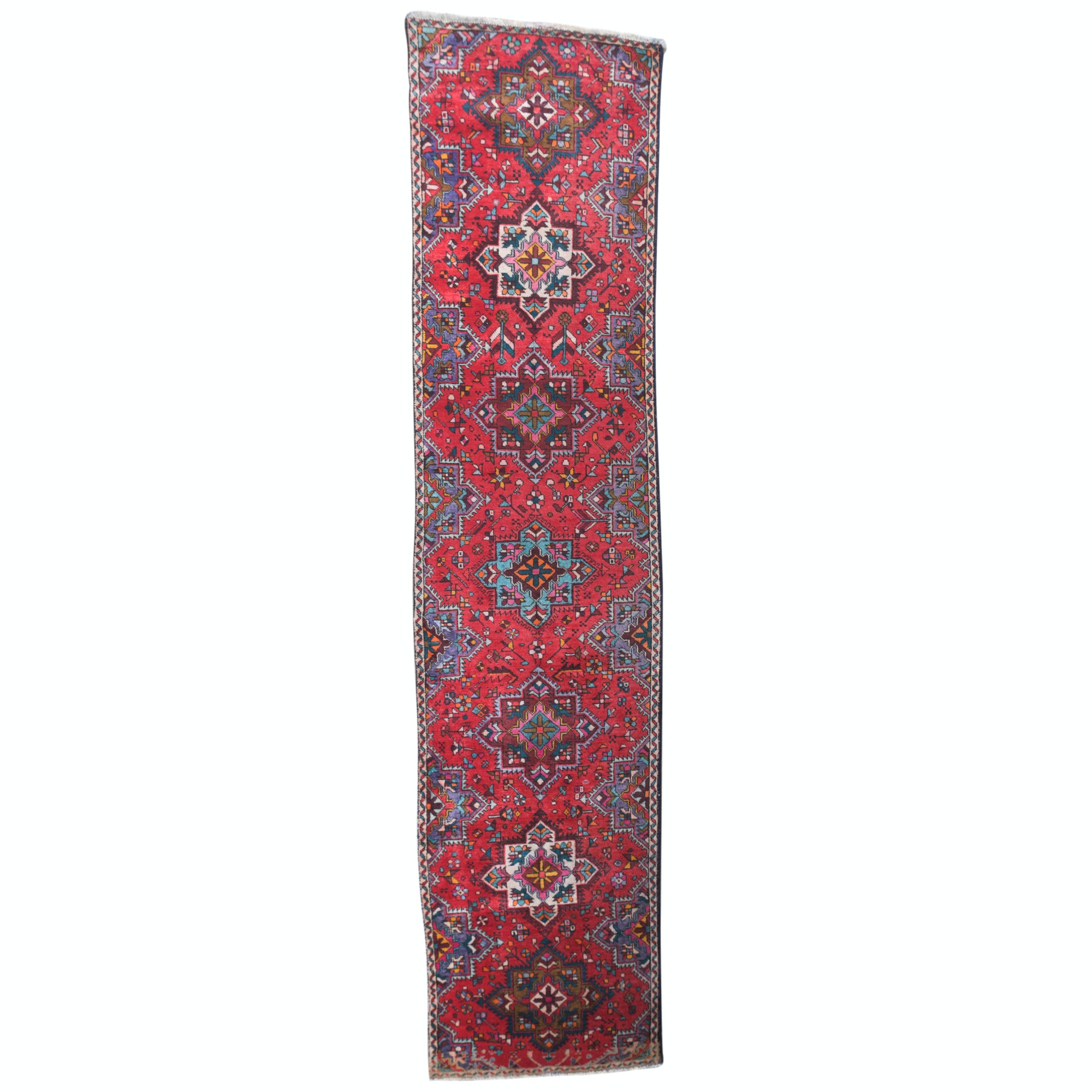 Hand-Knotted Persian Karaja Wool Runner