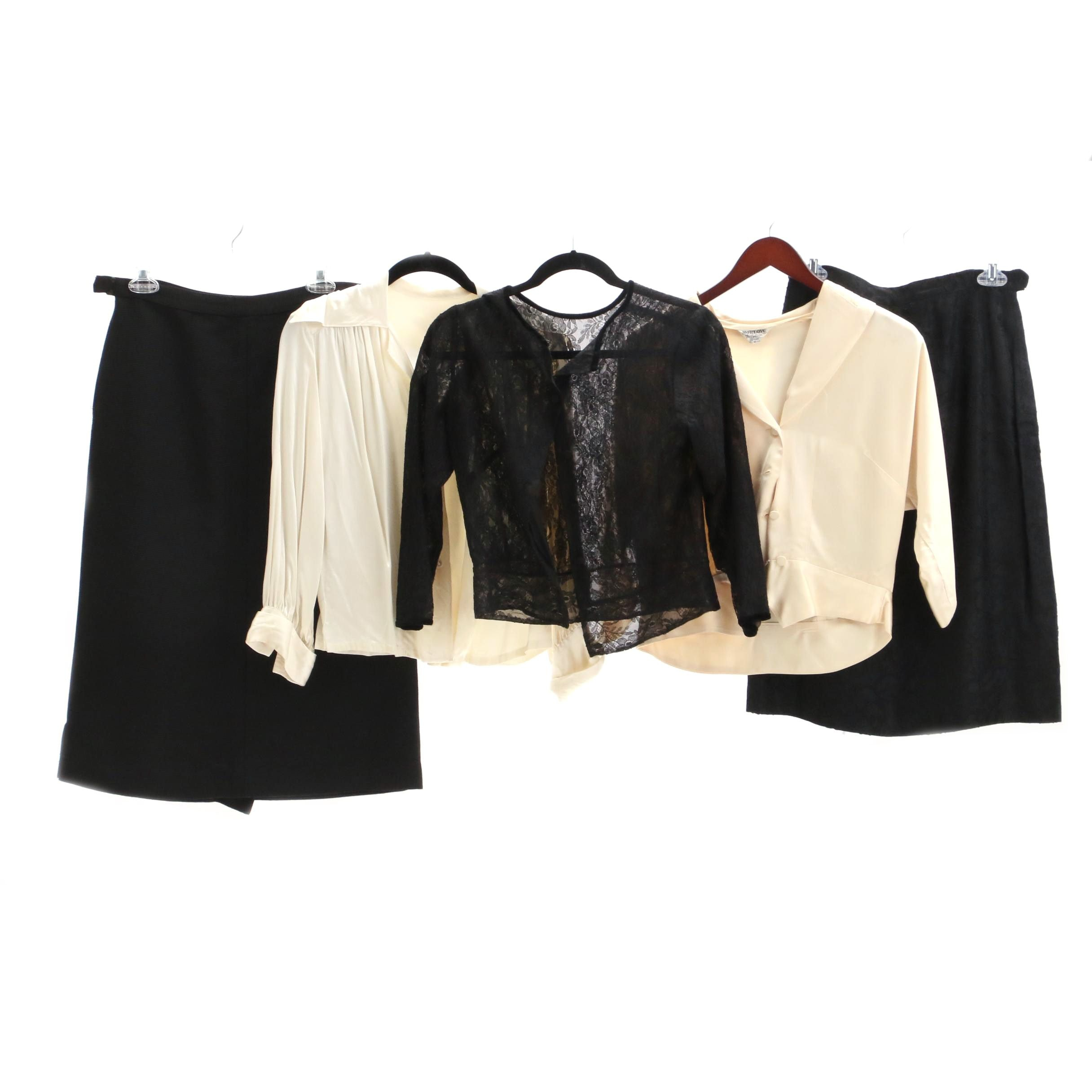 Circa 1950s Vintage Skirts and Blouses