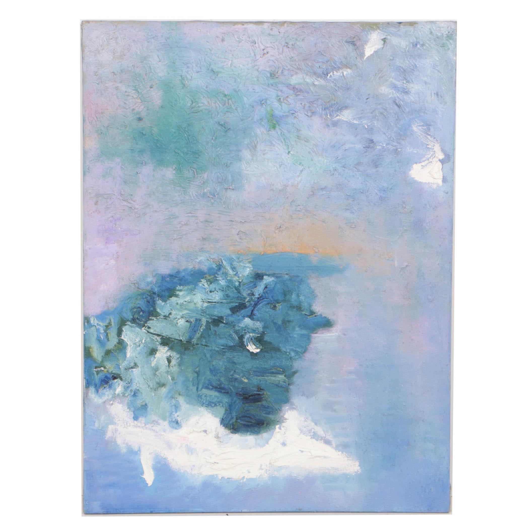 "Louis Papp 1988 Oil Painting on Canvas ""Autumn"""